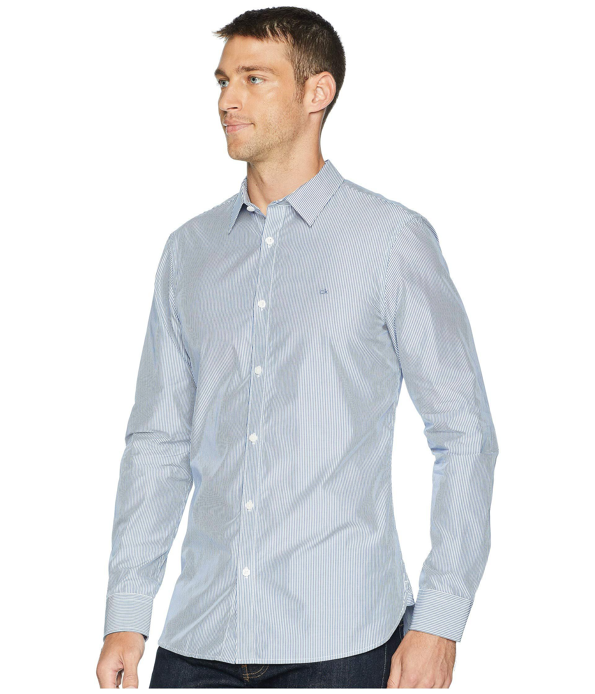 f45cb1a1ffc Lyst - Calvin Klein The Extra-fine Cotton Shirt (black) Men s Clothing in  Blue for Men