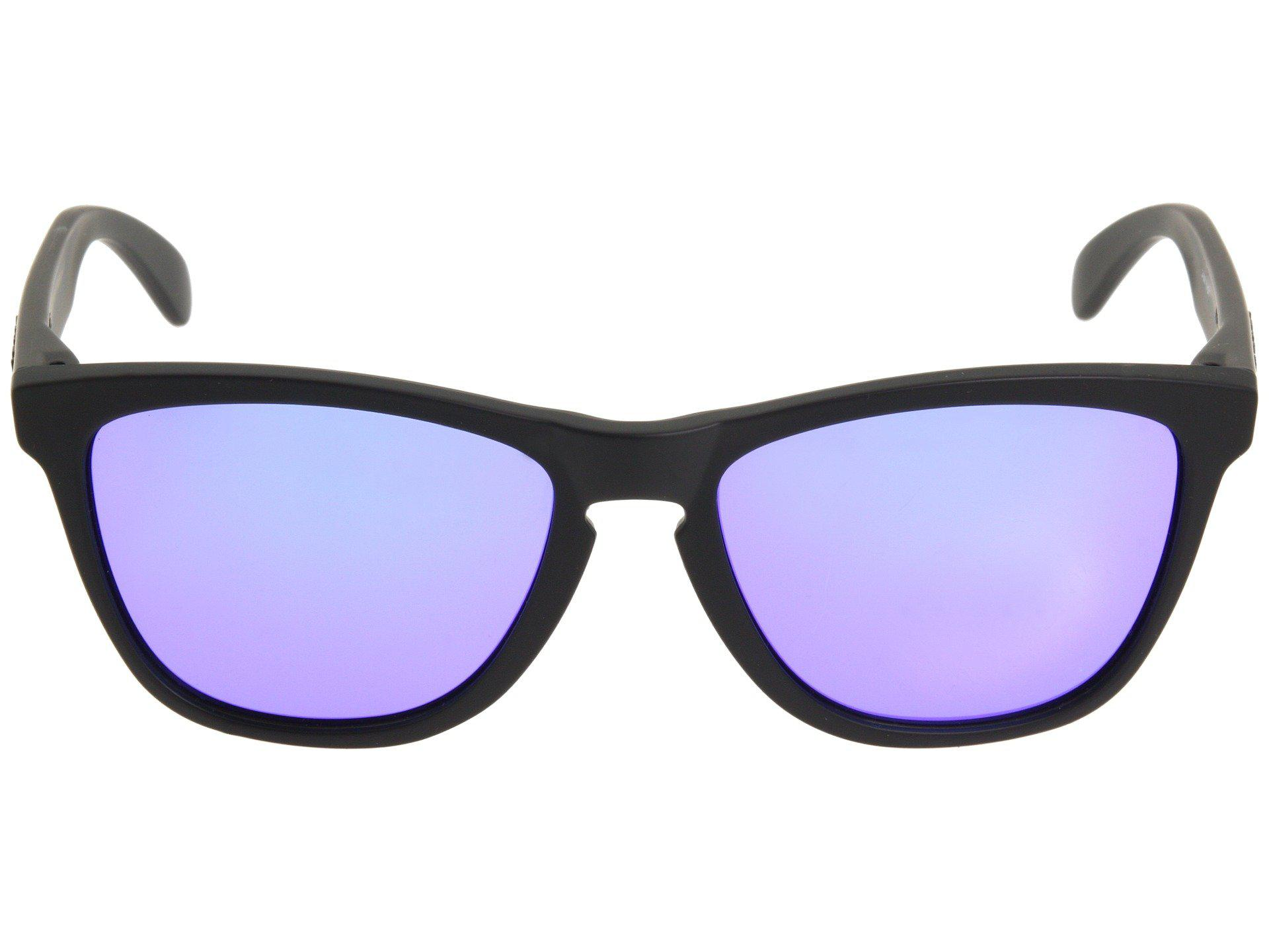 Oakley - Frogskins(r) (matte Black violet Iridium Lens) Sport Sunglasses.  View fullscreen e75c1fe509