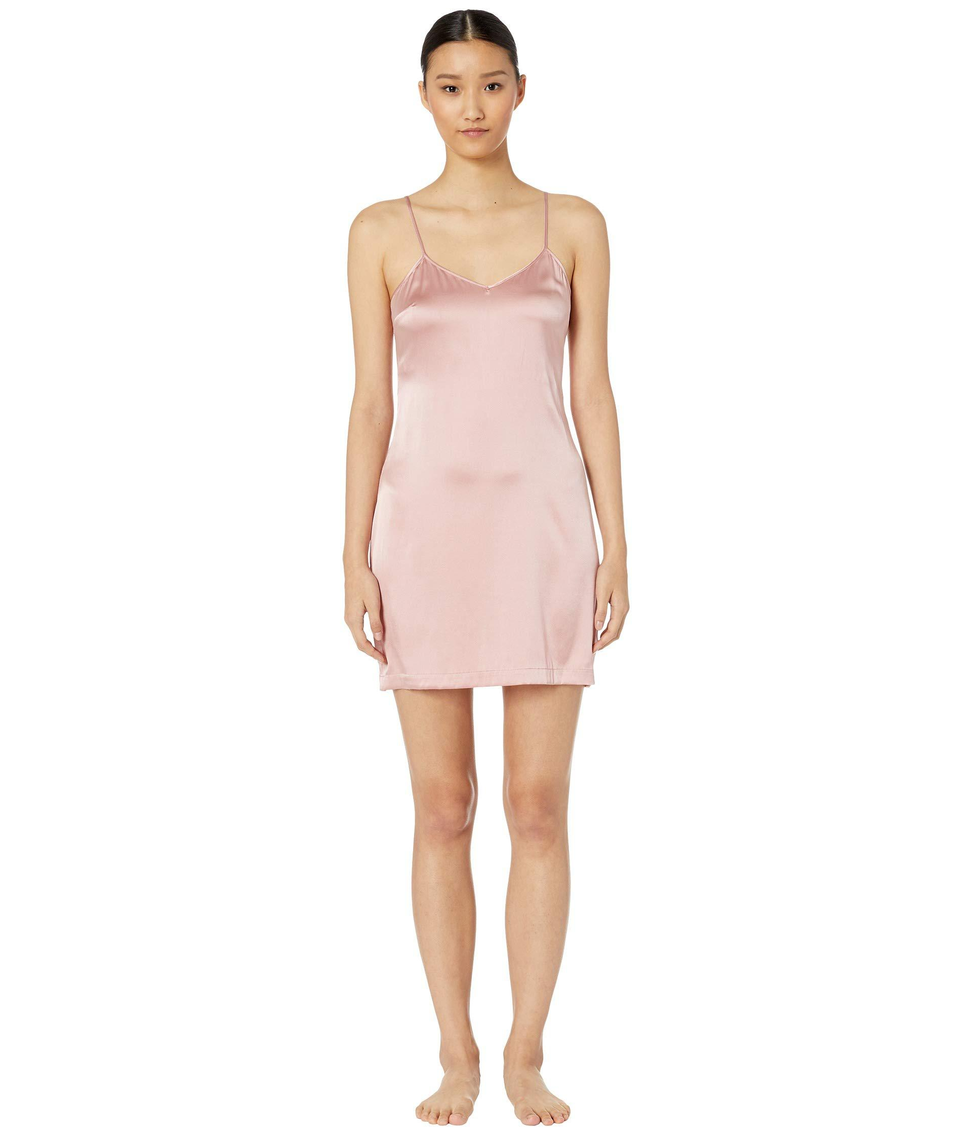 230a67180c Lyst - La Perla Silk Reward Short Slip Dress (pink Powder) Women s ...