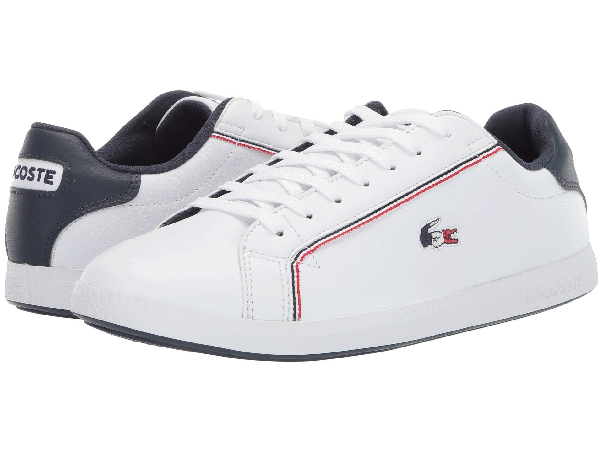 27a2ee08f557dc Lyst - Lacoste Graduate 119 3 Sma (white navy red) Men s Shoes in ...