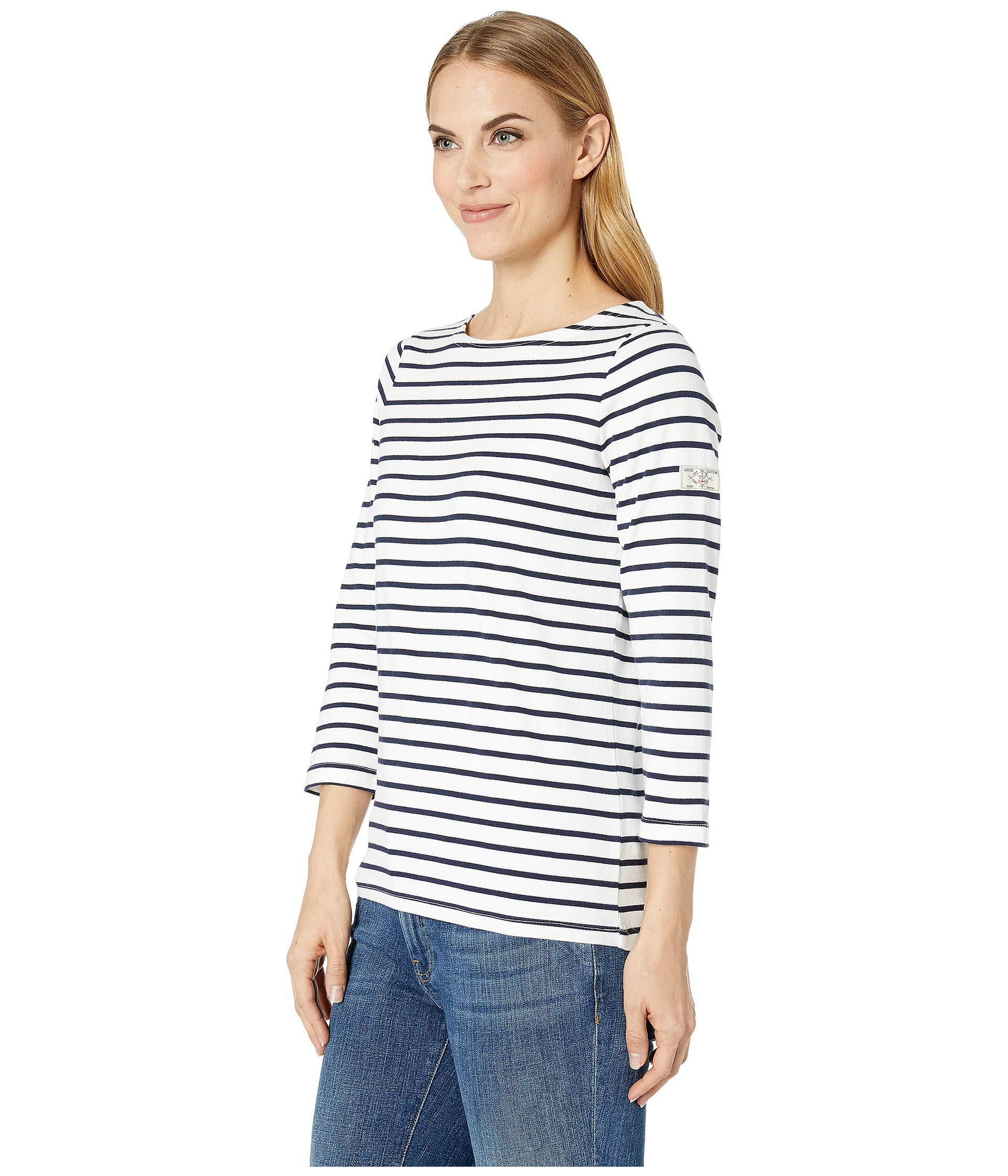 7fcf0310c55996 Lyst - Joules Harbour - Jersey Top (cream Navy Stripe) Women s Blouse in  Blue
