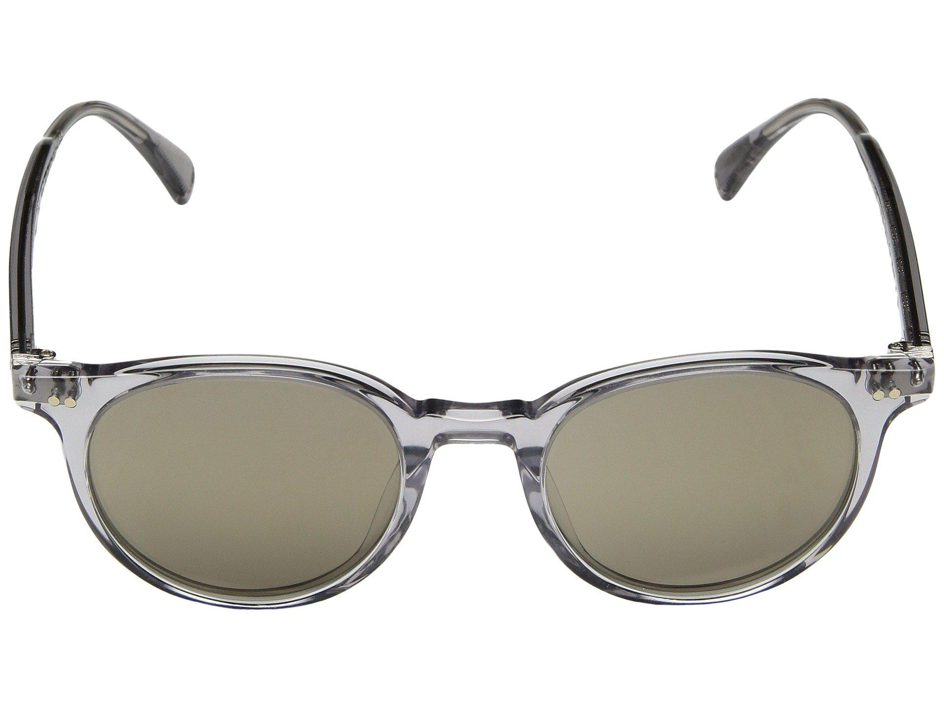e987add0984 Lyst - Oliver Peoples Delray Sun (buff amber Gold Tone) Fashion ...