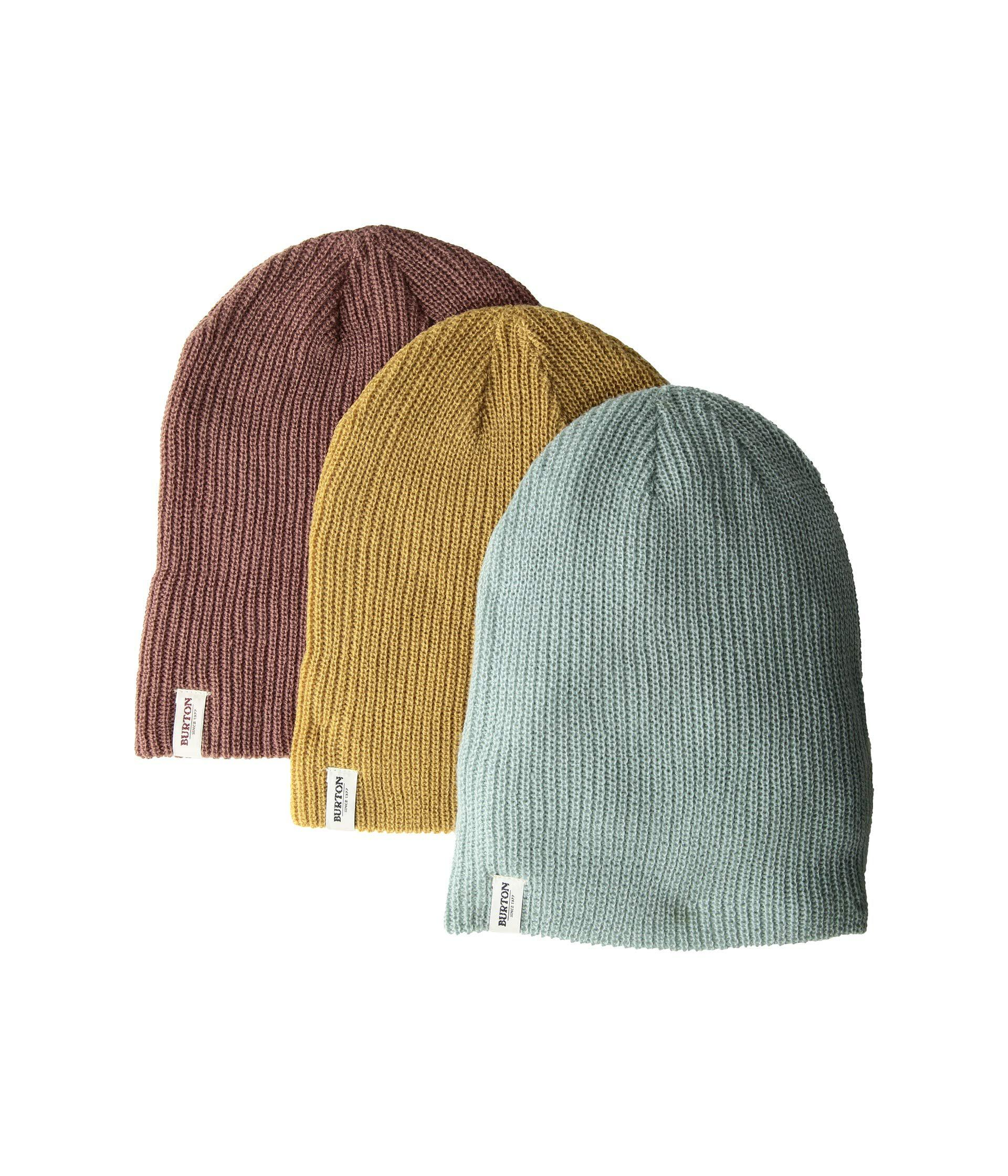a7daeed232e Lyst - Burton Dnd Beanie 3-pack (rose Brown camel abyss) Beanies in ...