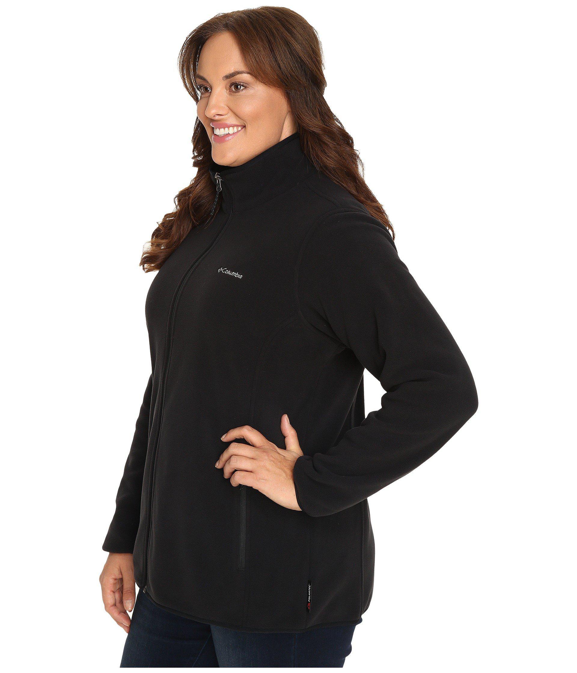 2d3818600de55 Lyst - Columbia Plus Size Fuller Ridge Fleece Jacket (black) Women s ...