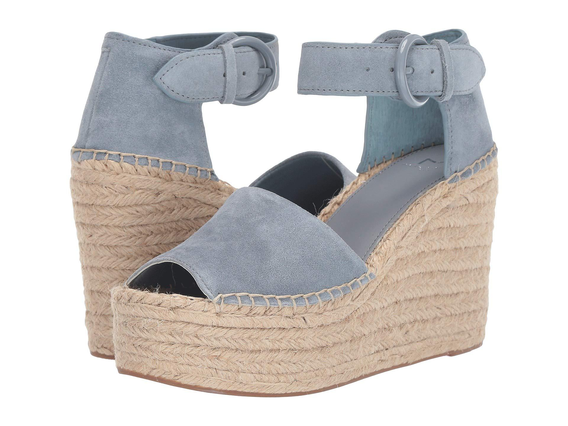 4e888c992cd Lyst - Marc Fisher Alida Espadrille Wedge (light Pale Rust Kid Suede ...