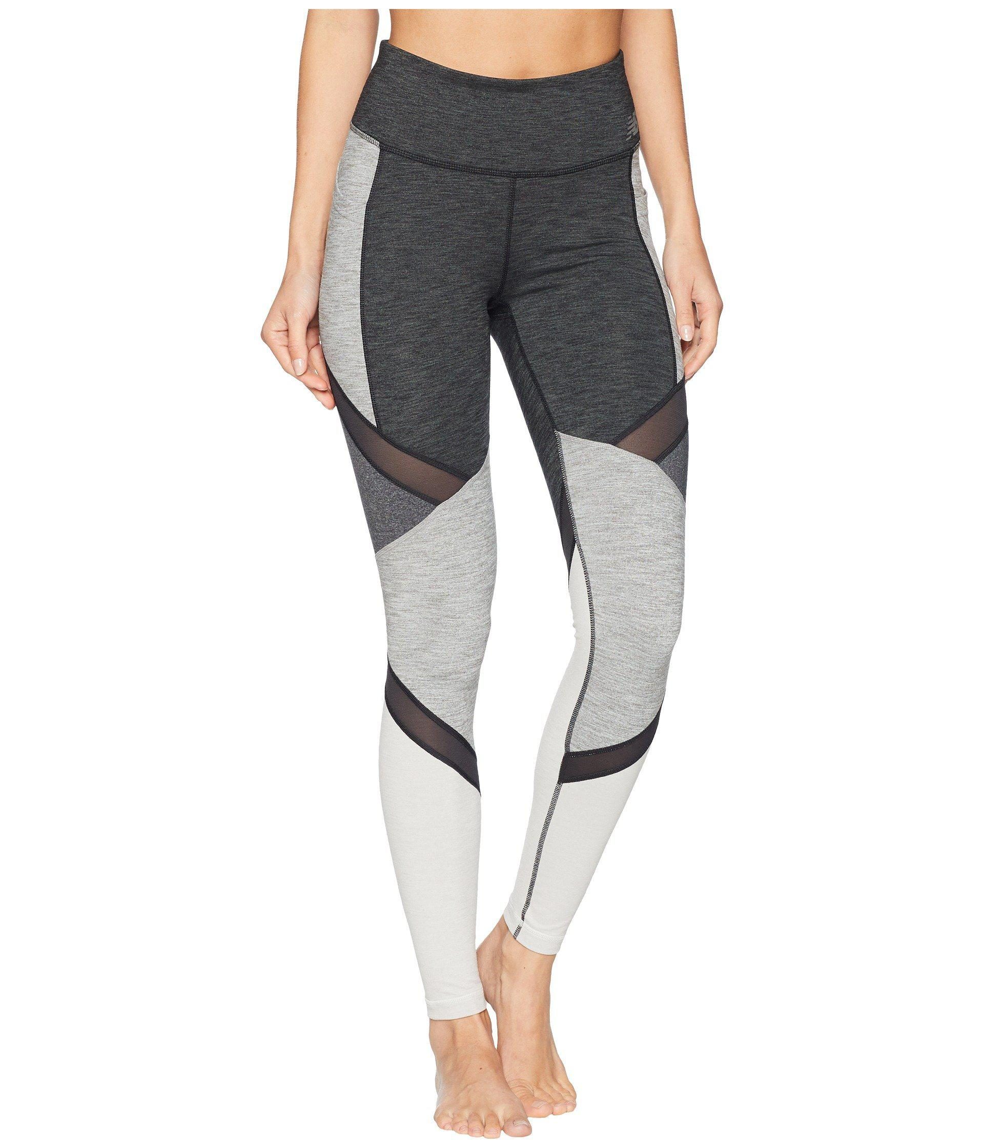 537f778c82869 New Balance High-rise Transform Pocket Tights (heather Charcoal/sea ...