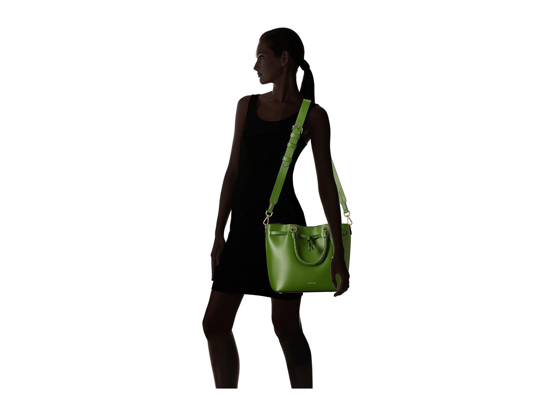 aa9054b338de Lyst - MICHAEL Michael Kors Blakely Medium Bucket Bag (true Green ...