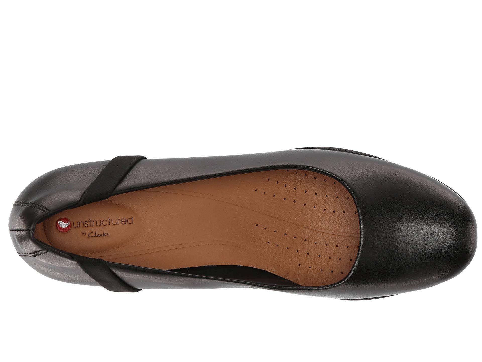 5027804ee1ad8 Clarks Un Rosa Step (black Leather) Women's Shoes in Black - Lyst