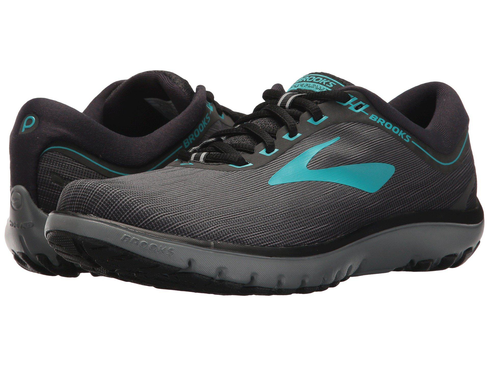 e4cfe95dbfb17 Brooks - Multicolor Pureflow 7 (grey black green) Women s Running Shoes -.  View fullscreen