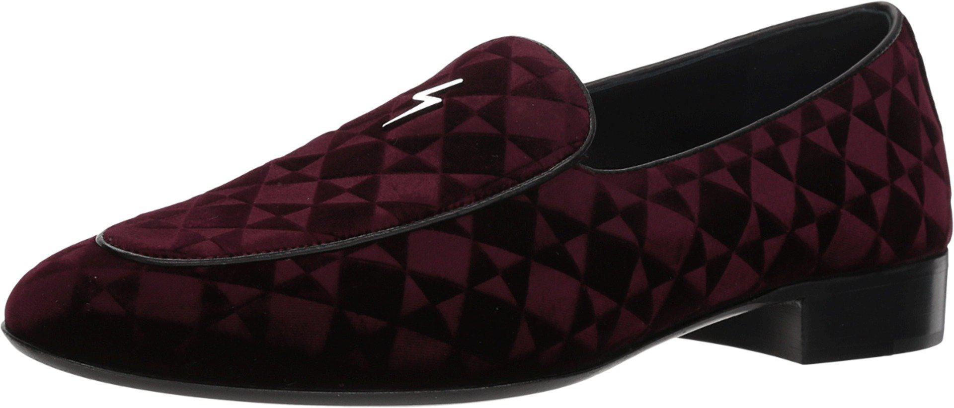 696300c5228 Lyst - Giuseppe Zanotti Cut Geometric Velvet Loafer in Black for Men