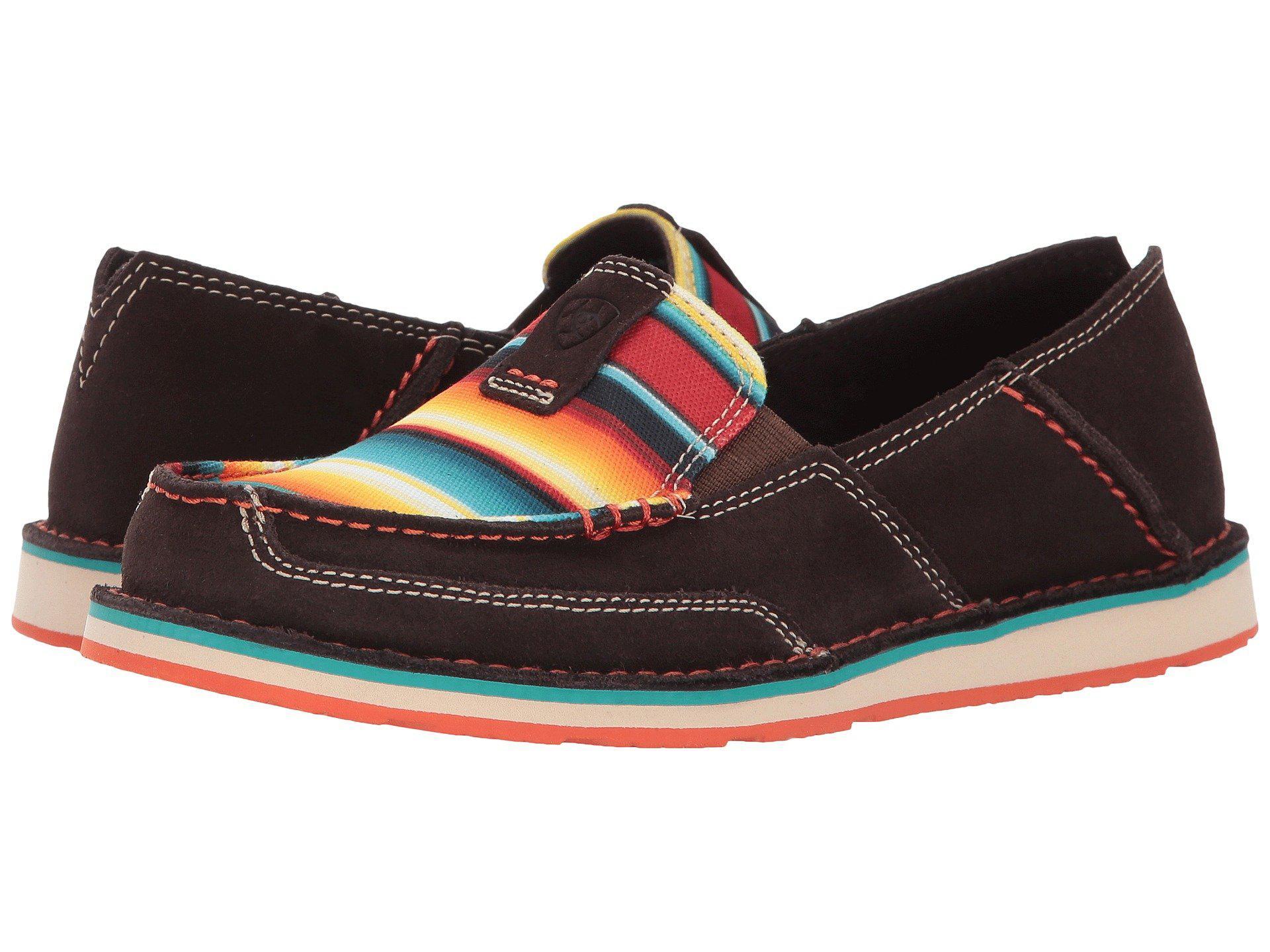 f1ea5b78 Ariat. Red Cruiser (bean Suede/pastel Aztec Print) Women's Slip On Shoes