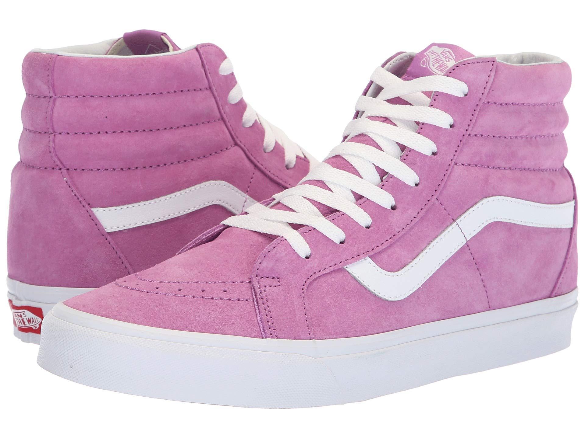 5c170aa2ca Vans. Women s Sk8-hi Reissue ((pig Suede) Violet true White) Skate Shoes