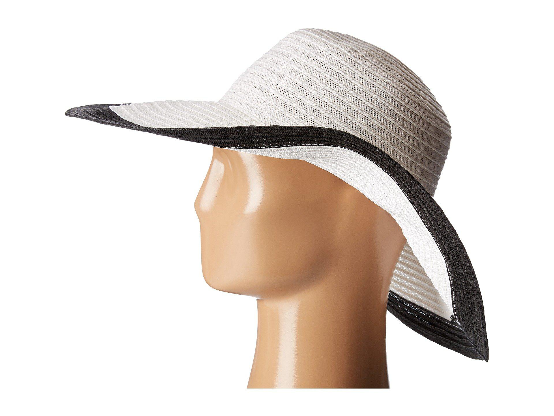 60eec17b San Diego Hat Company - Ubl6491 Four Buttons Floppy Color Block Hat (black/ white. View fullscreen