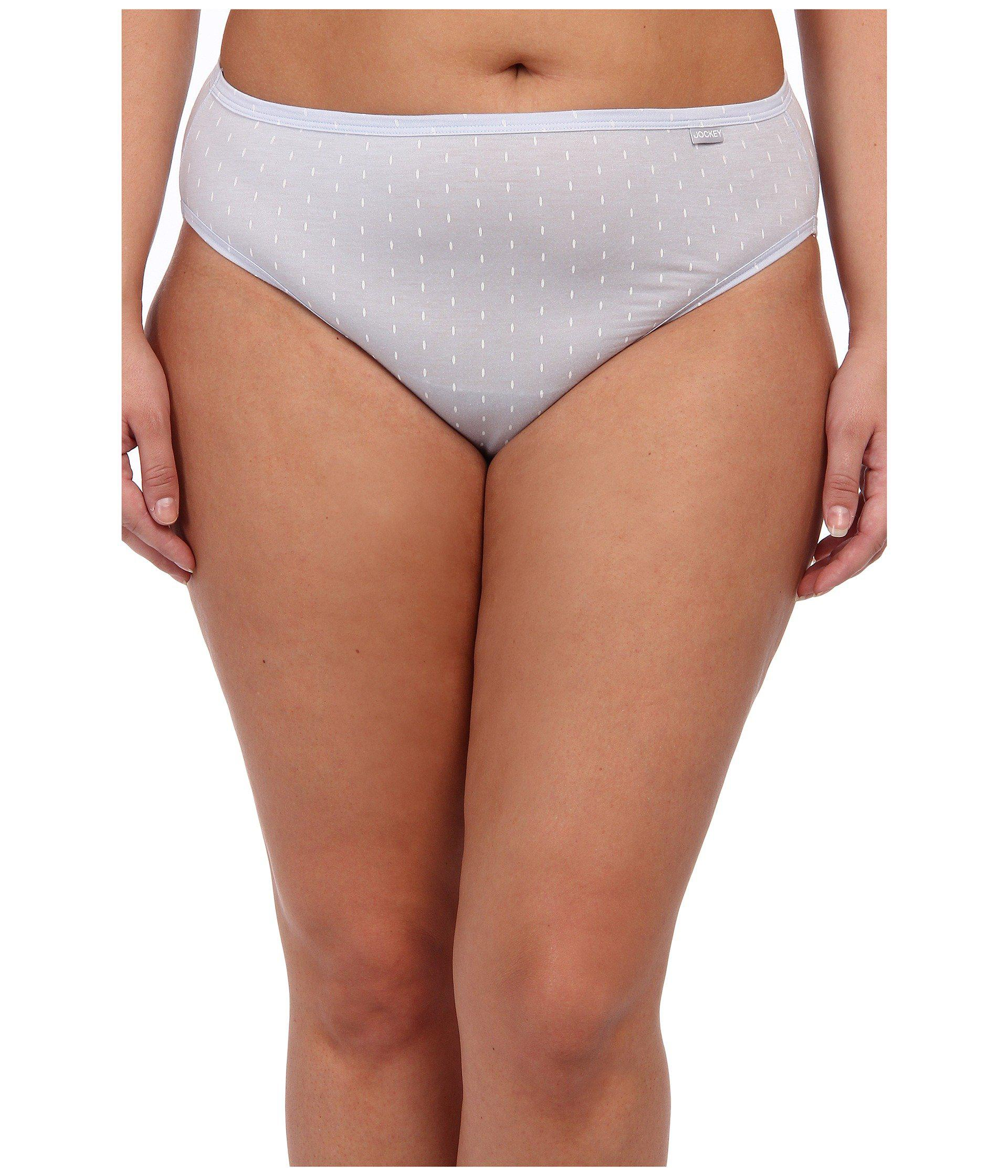 88288a68a82c8 Lyst - Jockey Elance(r) Supersoft French Cut 3-pack (black light ivory)  Women s Underwear in White