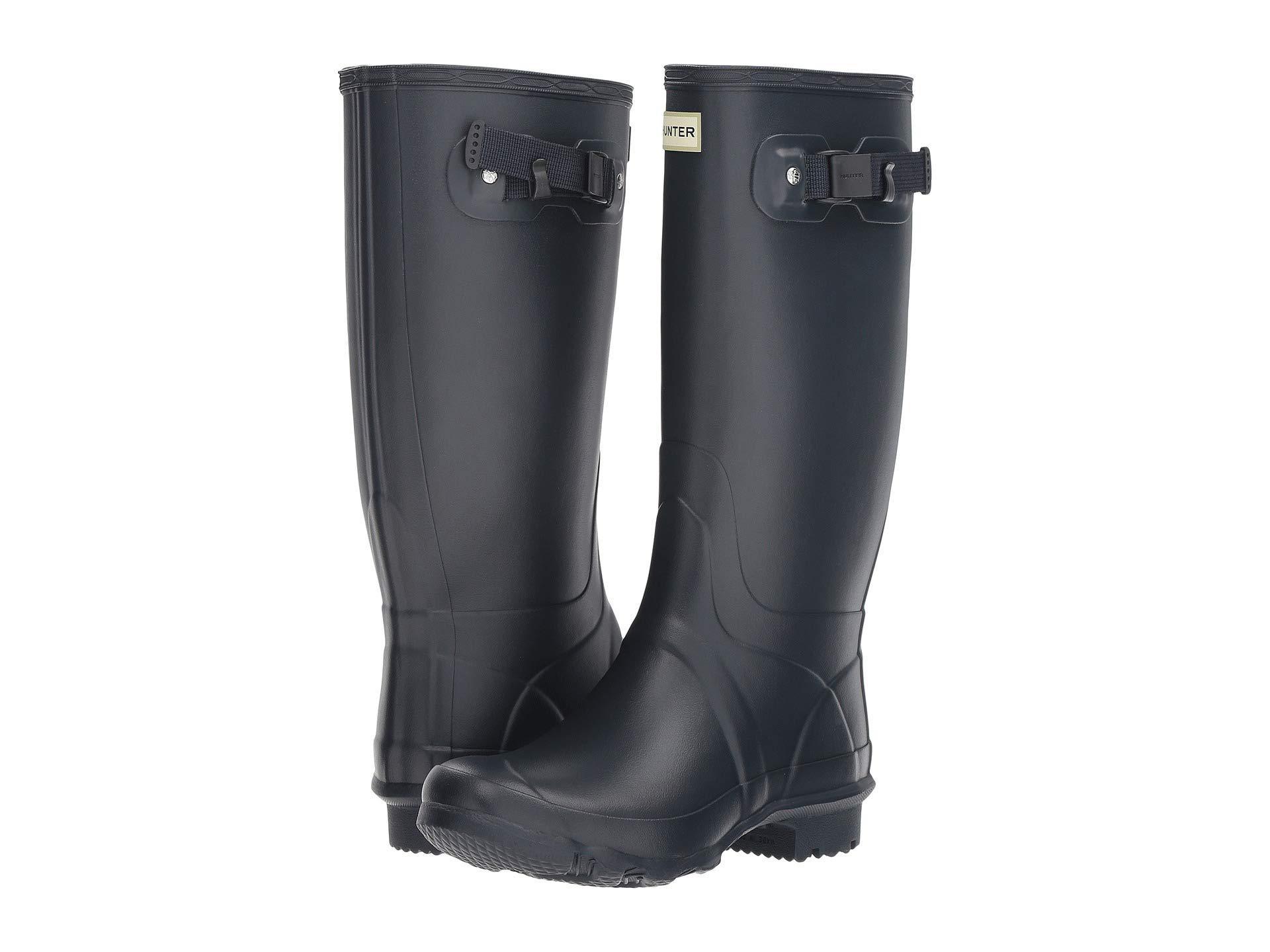 2aeeaaa8572 Lyst - HUNTER Huntress Field Boot (black) Women's Rain Boots in Blue