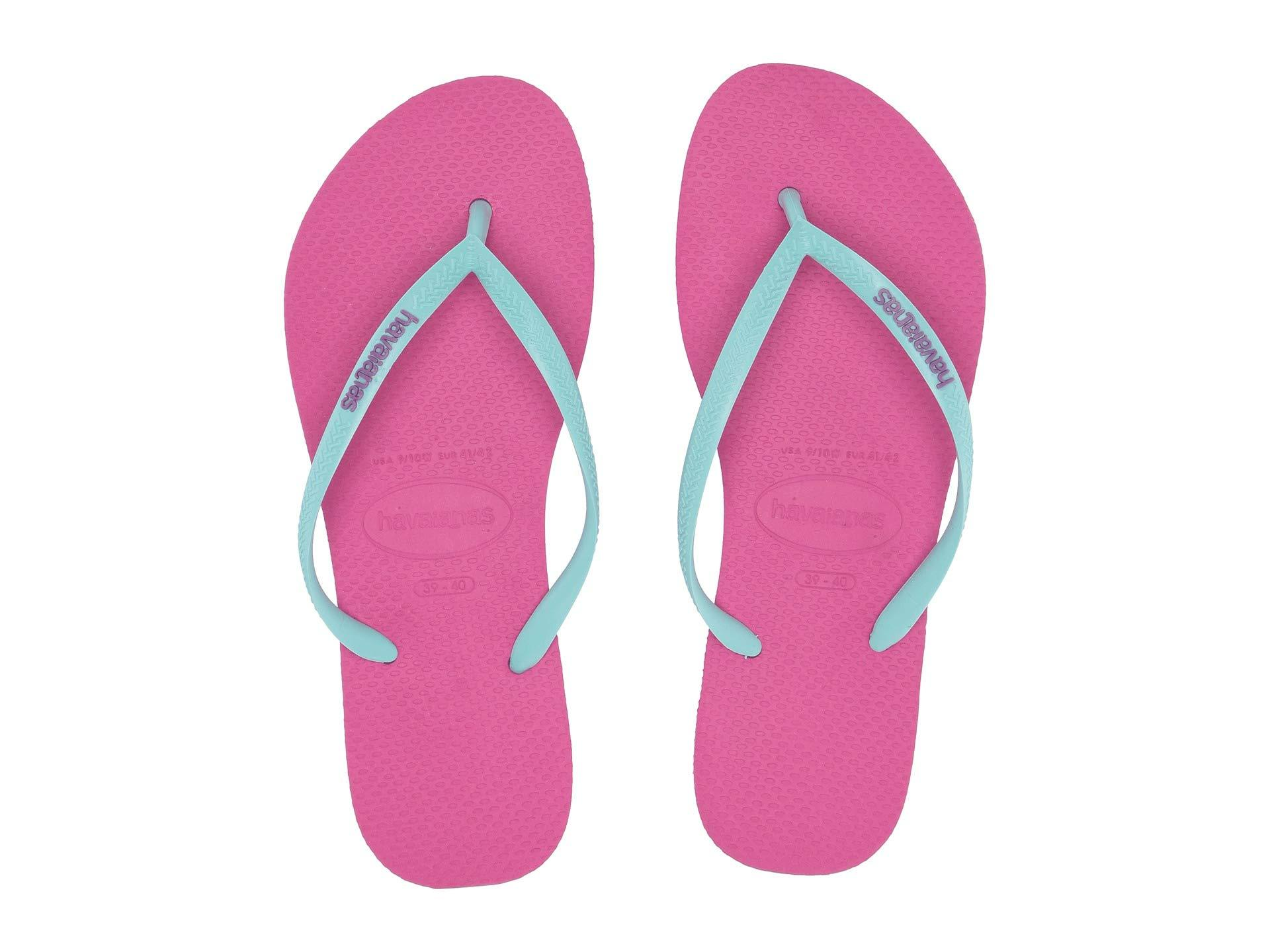 5fb20bf075e4 Havaianas - Pink Slim Logo Pop-up Flip Flops (hollywood Rose ice Blue. View  fullscreen