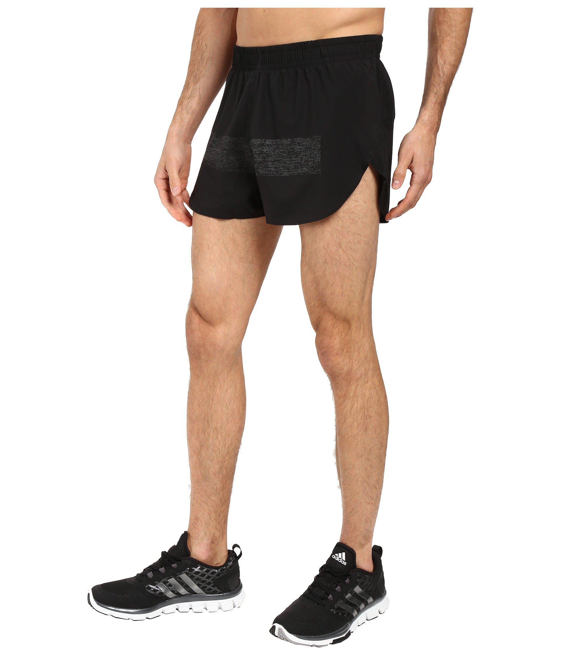 1e5db858dbf7a Lyst - adidas Supernova Split Shorts (black) Men s Shorts in Black for Men