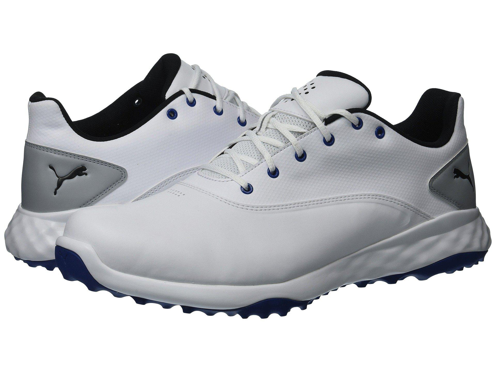 8d84a241496 PUMA. Grip Fusion (puma White quiet Shade puma Black) Men s Golf Shoes