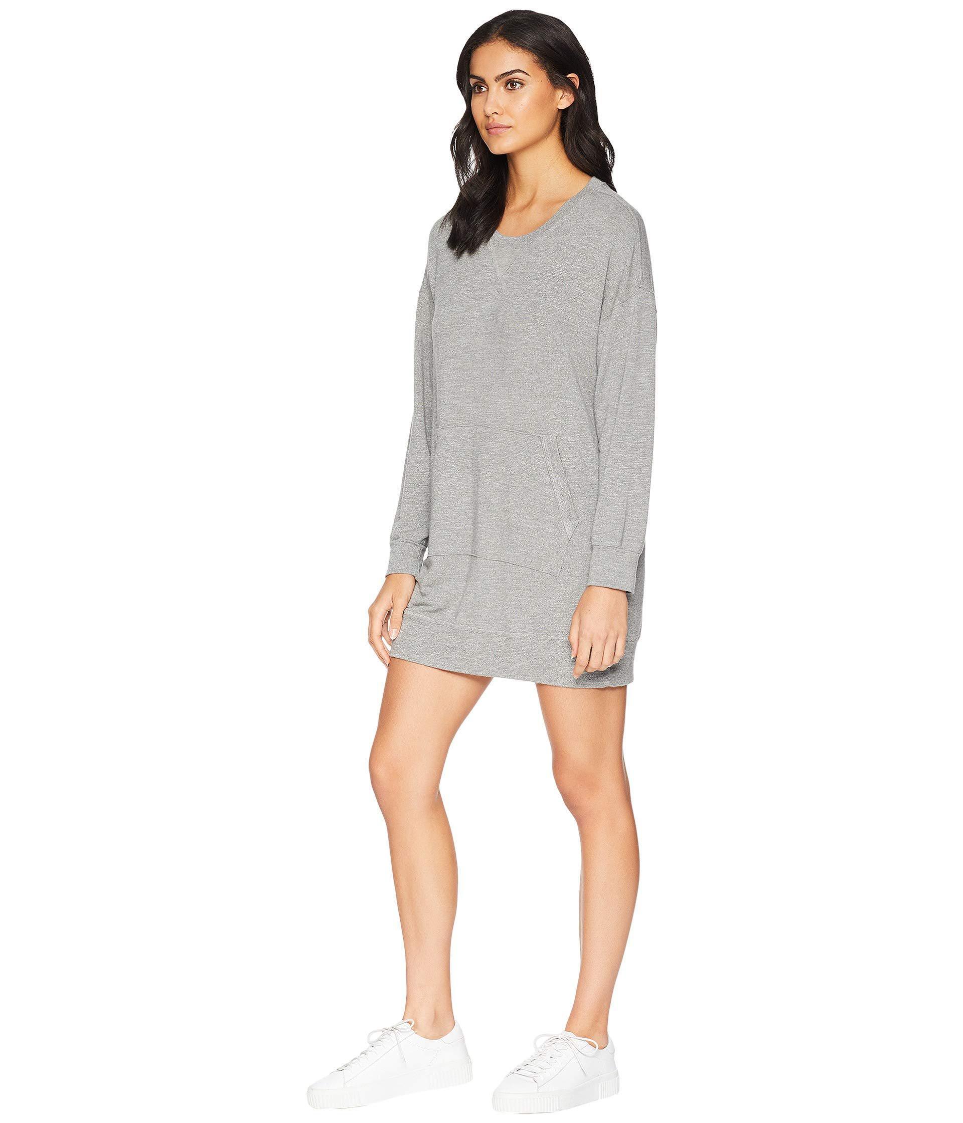 Lyst - Splendid Dream Slub Courtside Sweatshirt Dress (heather Grey) Women s  Dress in Gray 0b76fa7ac7
