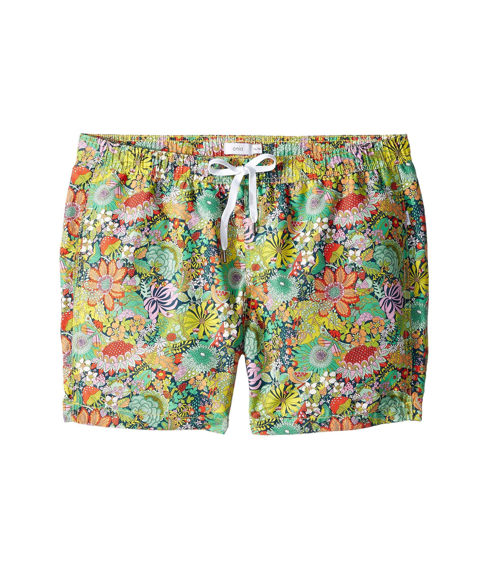 f2f924dabf Onia - Green Charles 5 (multi) Men's Swimwear for Men - Lyst. View  fullscreen