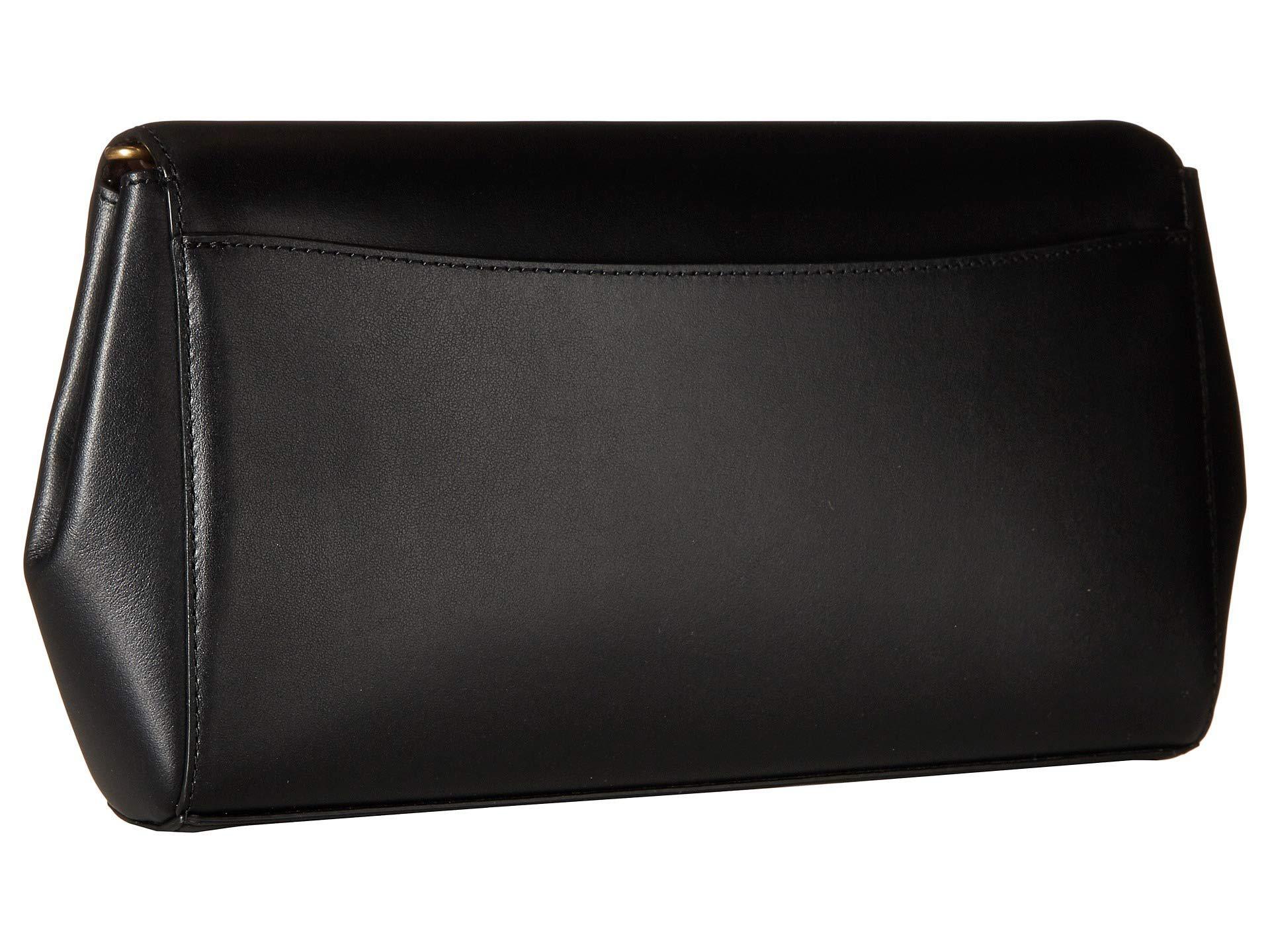 f02079f8bb5f COACH - Smooth Leather Turnlock Clutch With Chain (b4 black) Clutch Handbags  -. View fullscreen