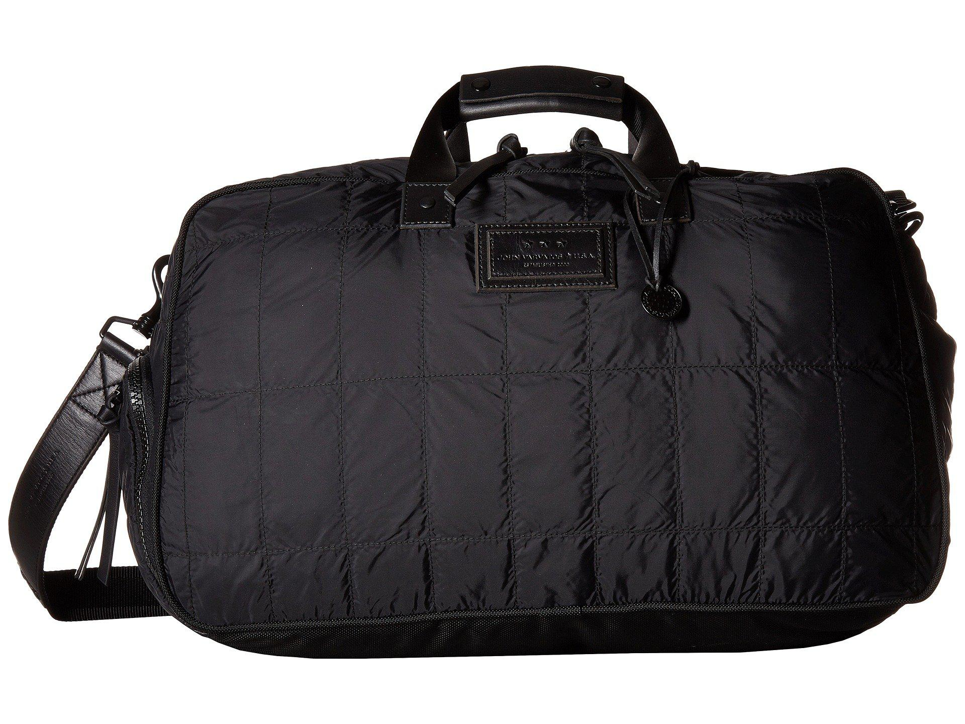 John Varvatos Quilted Nylon Duffel With Shoe Pack BHMIgPo0O