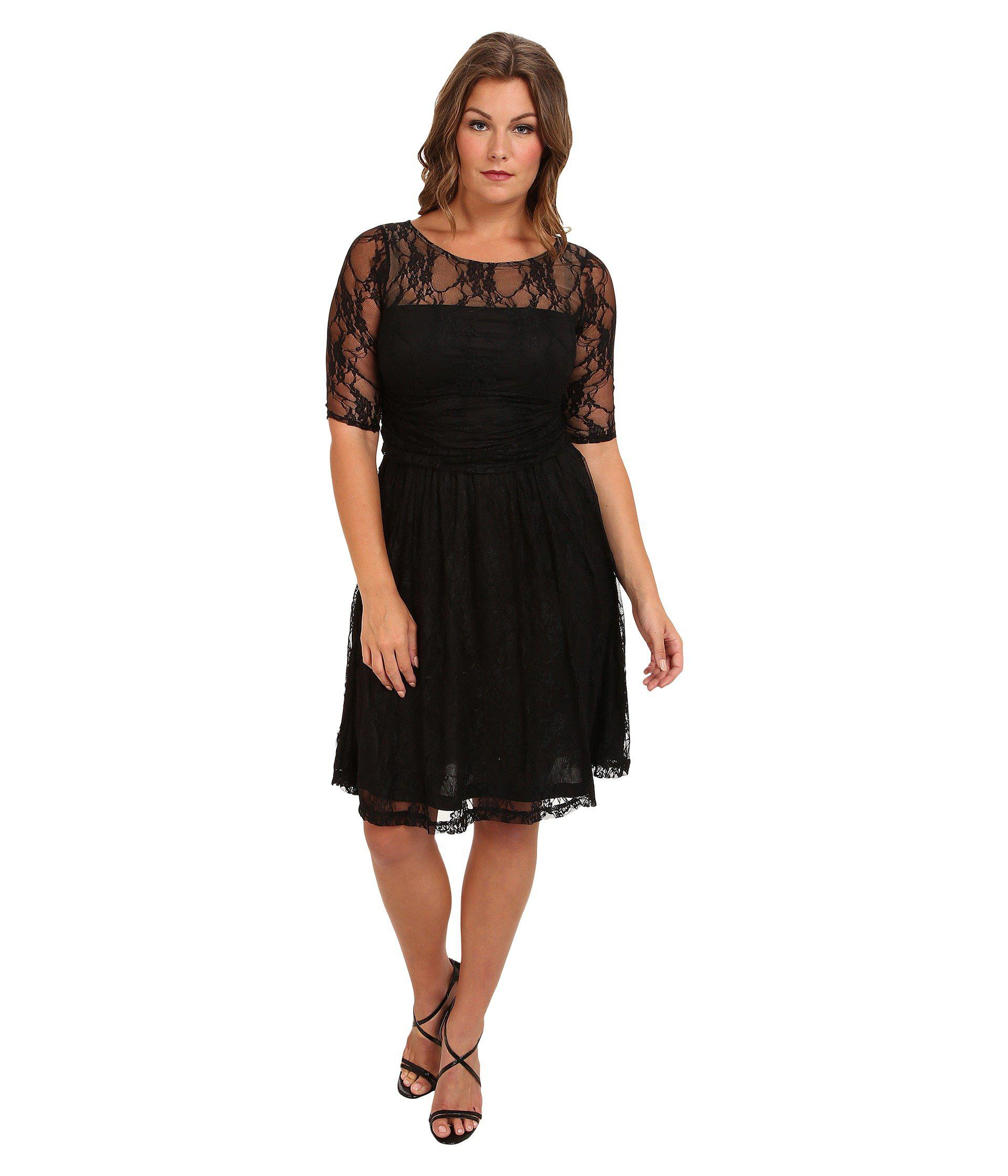 c43112bf3c Lyst - Kiyonna Luna Lace Dress (crazy About Blue) Women s Dress in Black
