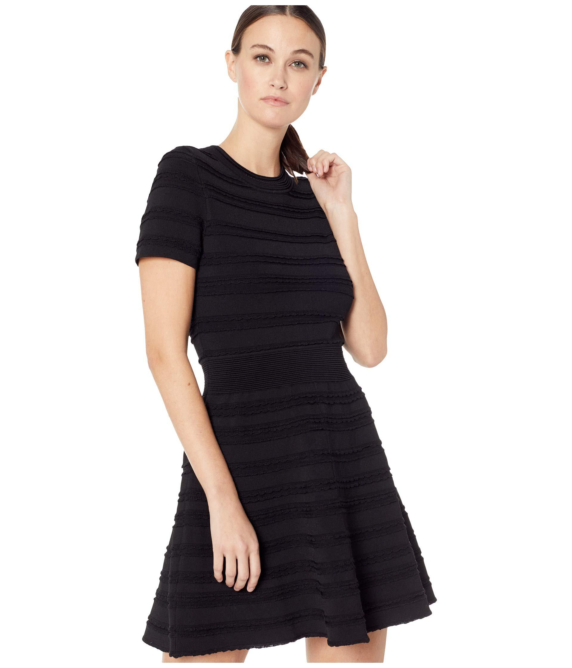 68cc4bba06878 The Kooples Horizontal-knit Dress (black) Women's Dress in Black - Lyst