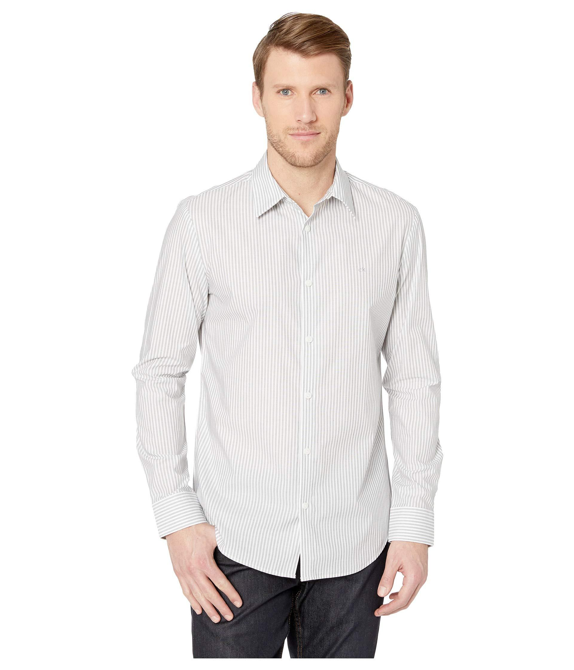 009530aeeea Lyst - Calvin Klein The Stretch-cotton Shirt (black) Men s Clothing ...
