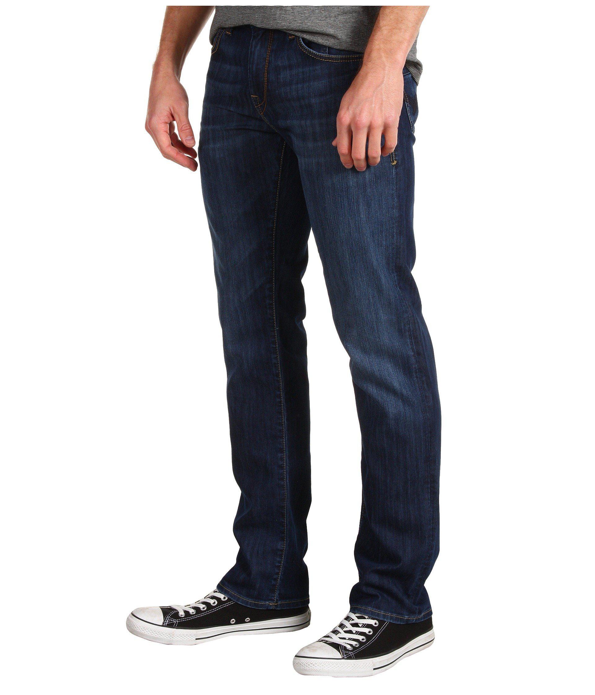 90f36767665d6 Lyst - Mavi Jeans Zach Regular Rise Straight Leg In Dark Maui (dark Maui) Men s  Jeans in Blue for Men