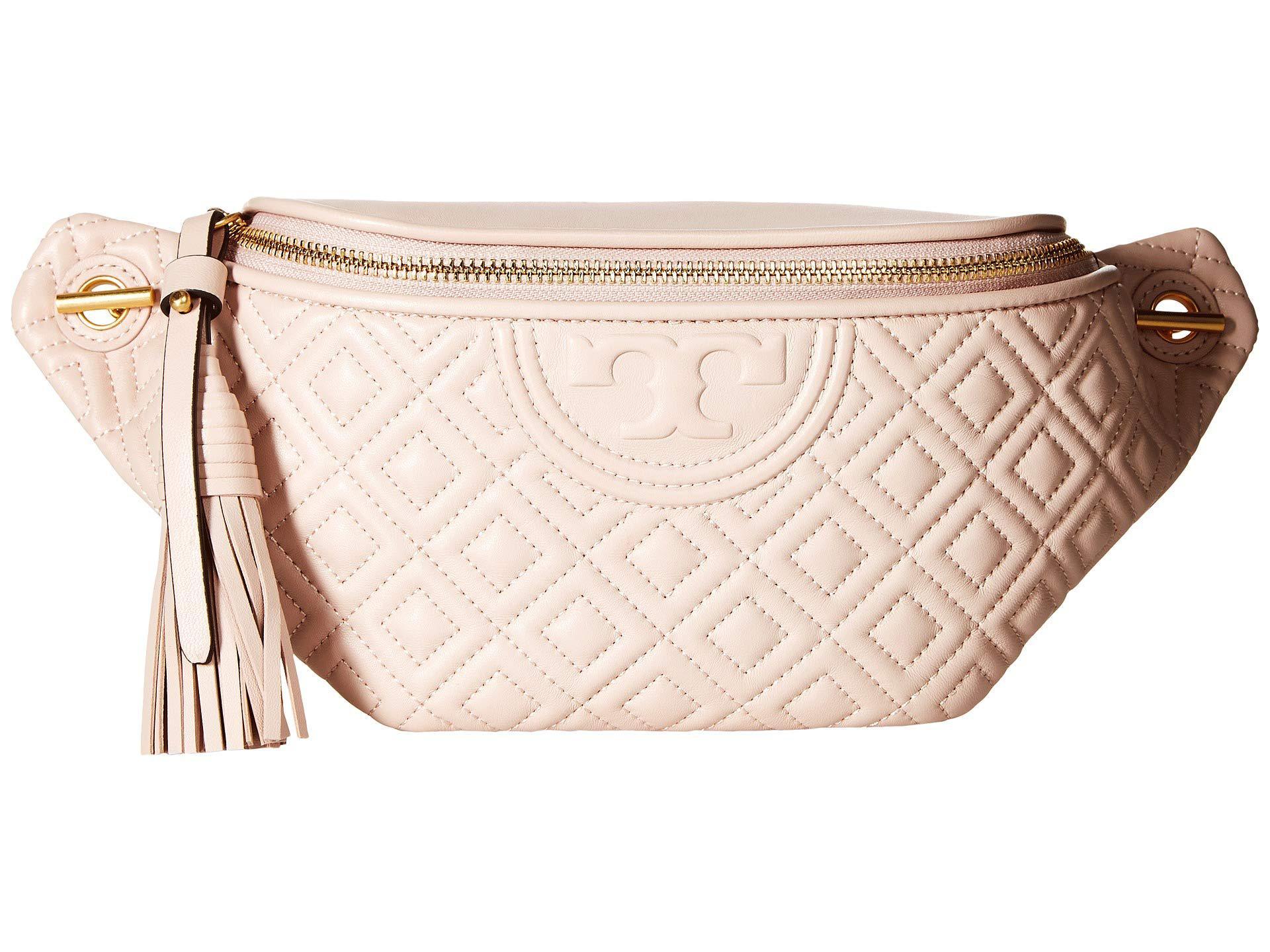 23b940e01c8 Lyst - Tory Burch Fleming Belt Bag (black) Women s Belts in Pink