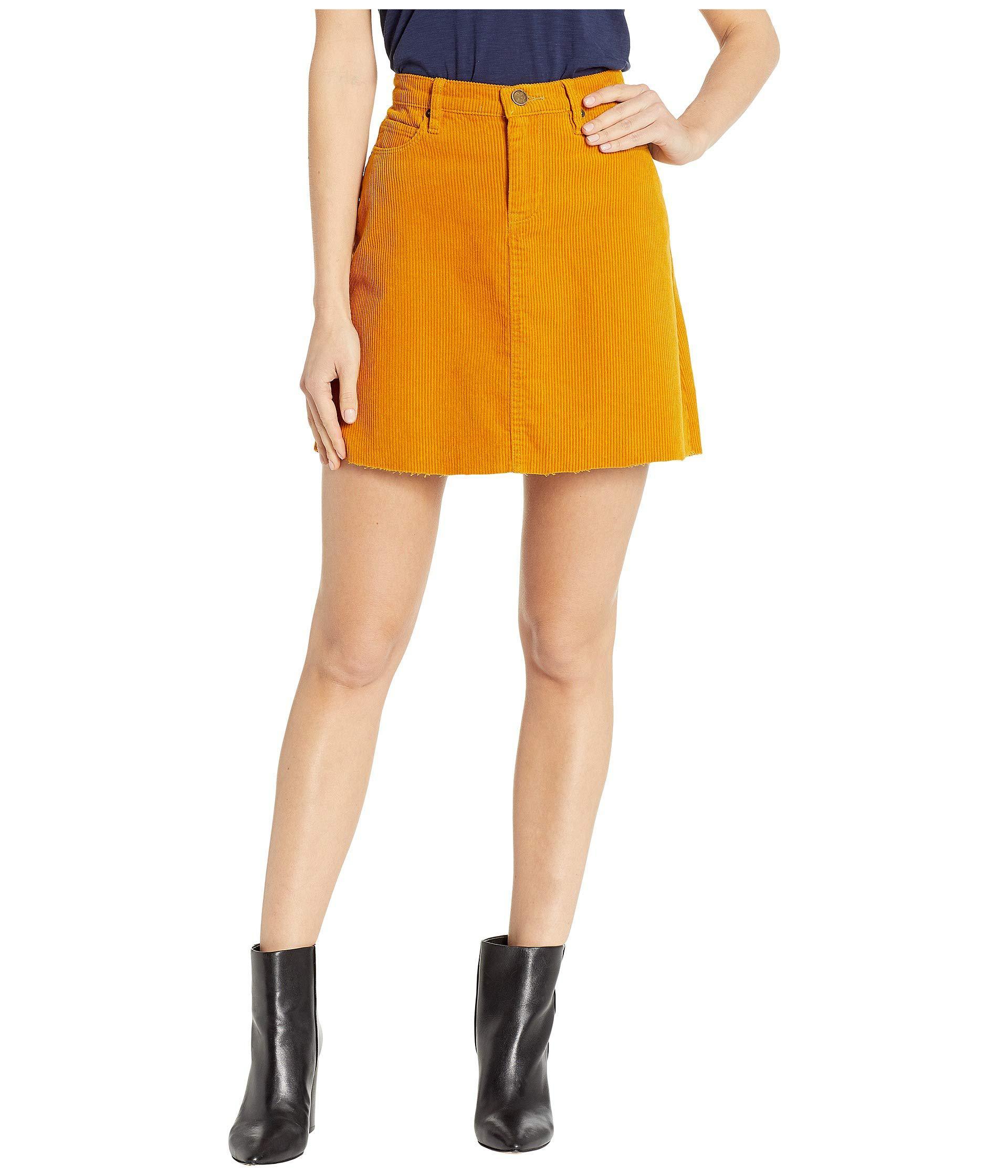 0909c54c98b Blank NYC - Yellow Corduroy Mini Skirt In Marigold (marigold) Women s Skirt  - Lyst. View fullscreen