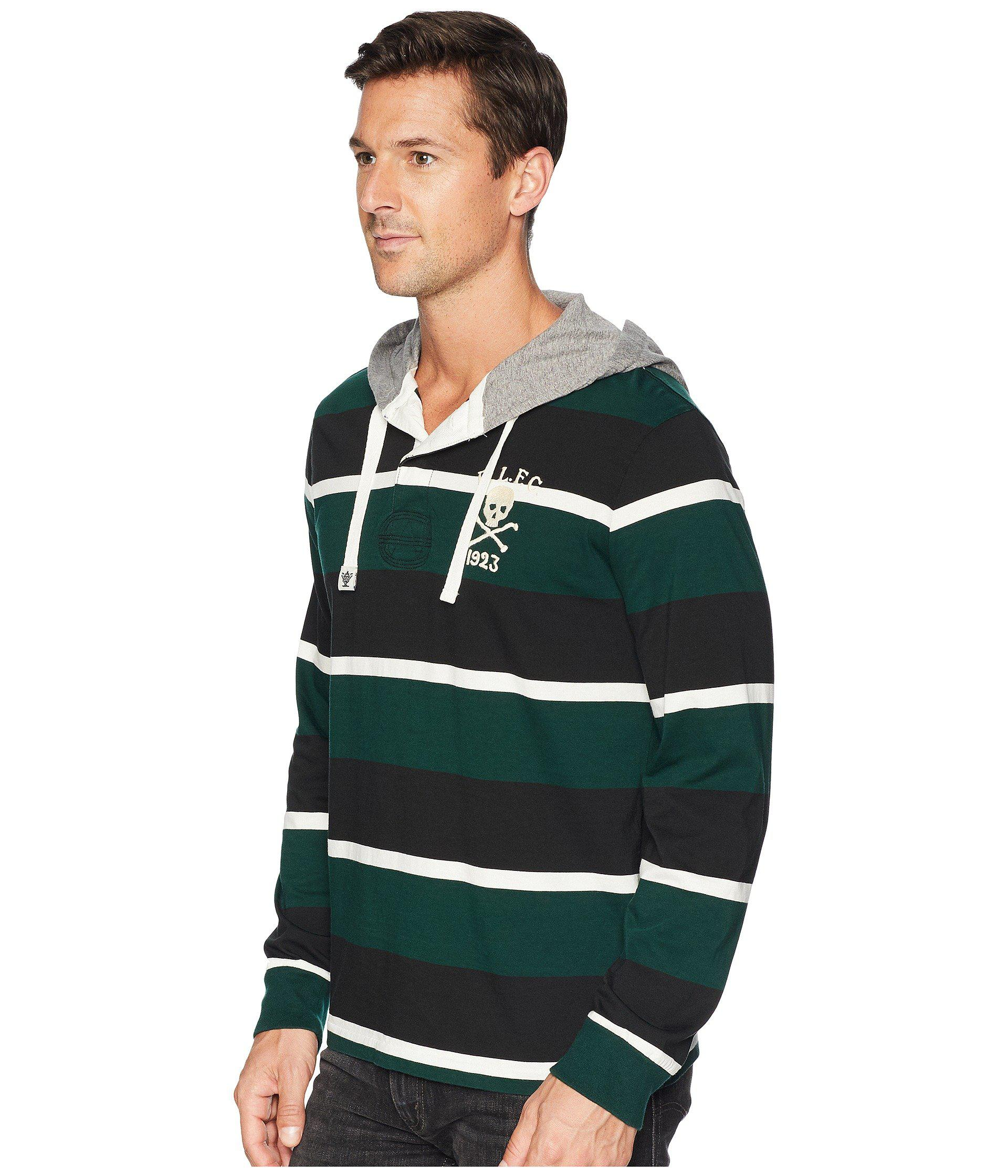 afcec136ee7d Lyst - Polo Ralph Lauren Rugby Jersey Pullover T-shirt (college Green  Multi) Men s Clothing in Green for Men