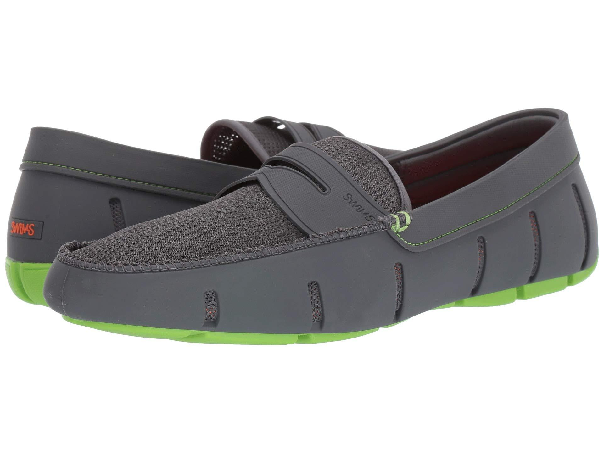 Swims Penny Loafer (gray/acid Green) Men's Shoes for Men ...