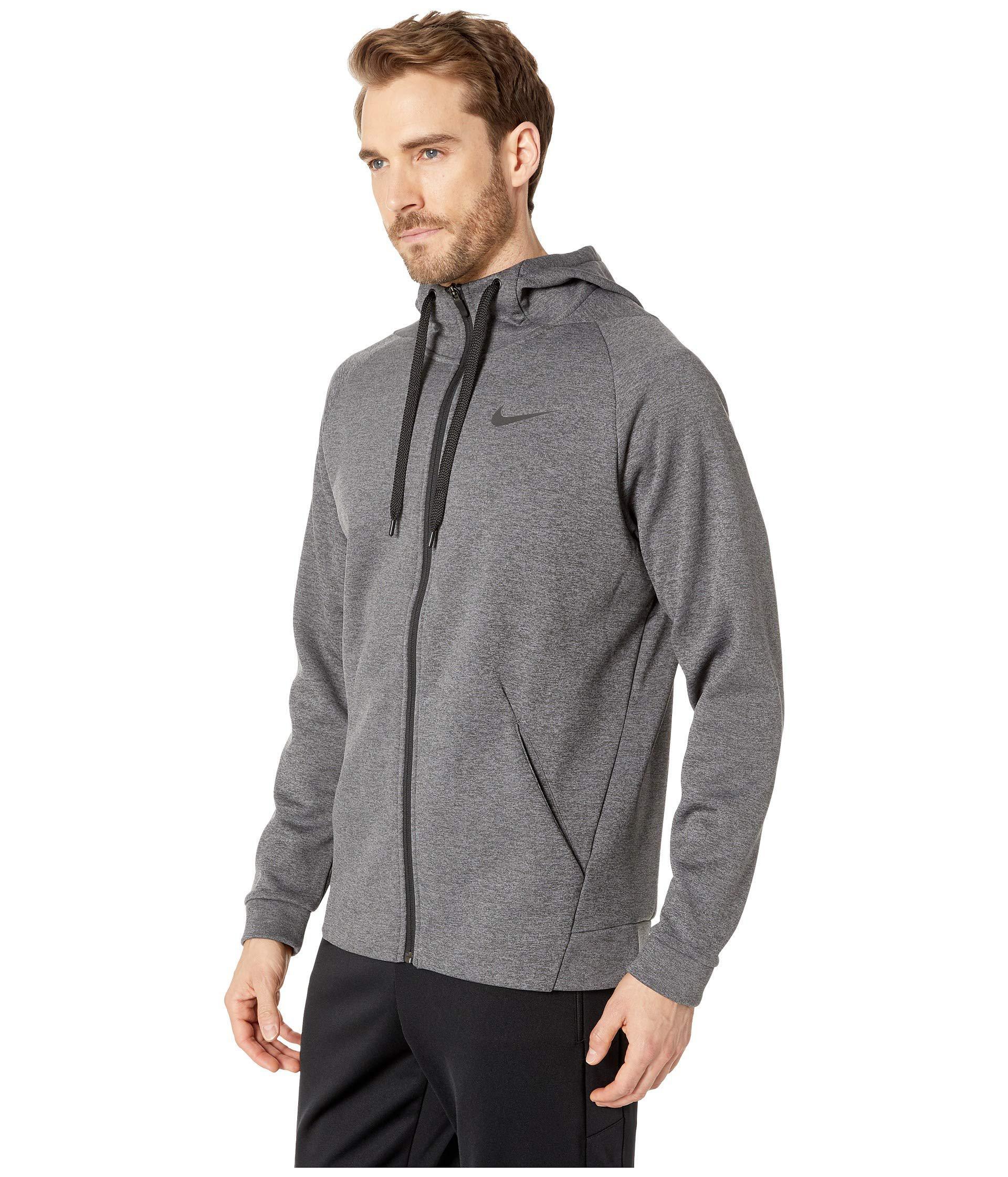 527f18dc09 Lyst - Nike Dri-fit Therma Men s Full-zip Training Hoodie (charcoal  Heather black) Men s Sweatshirt in Gray for Men