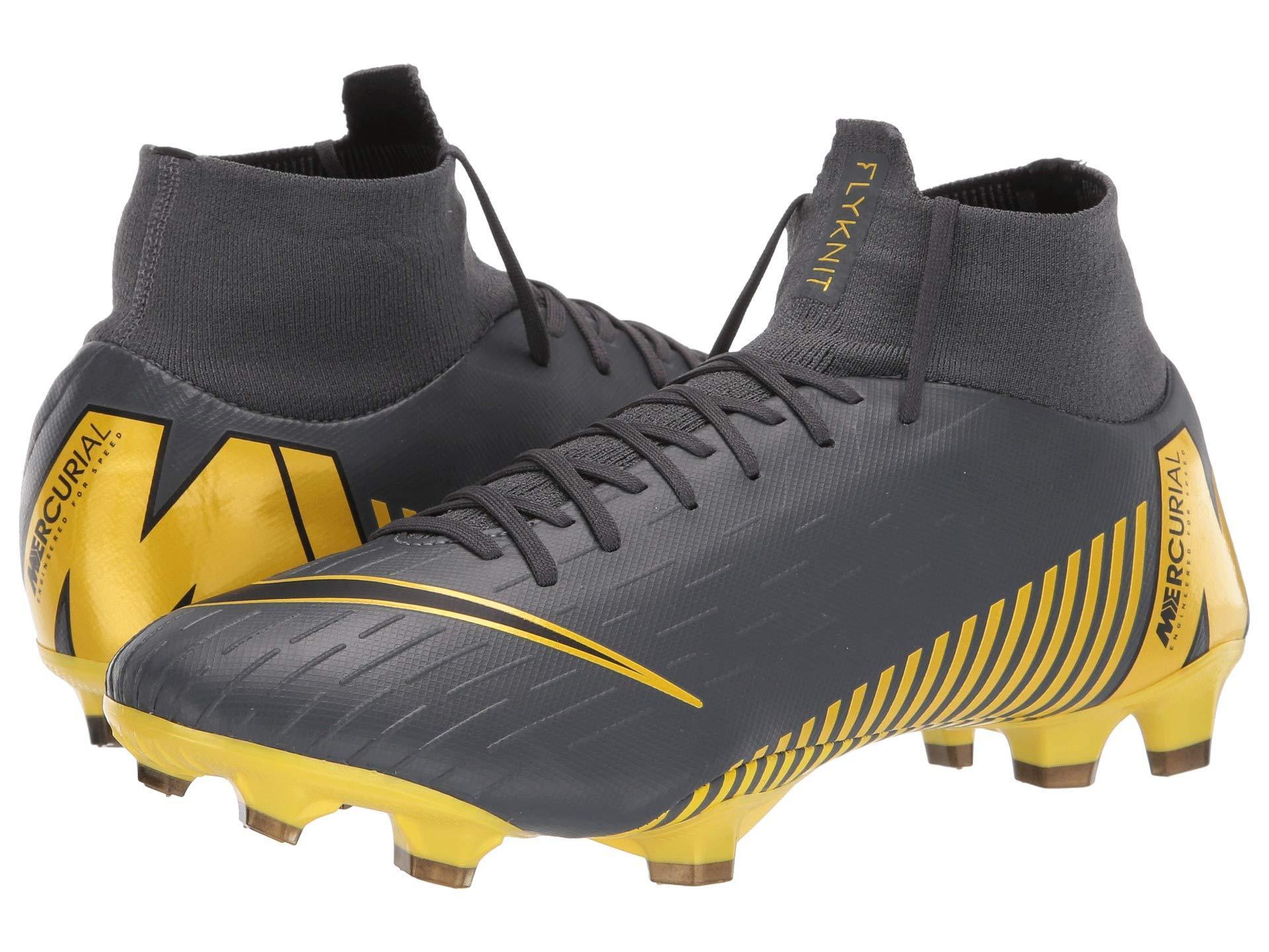 769a0093c3e8 Nike Superfly 6 Pro Fg (black/metallic Vivid Gold) Men's Soccer ...
