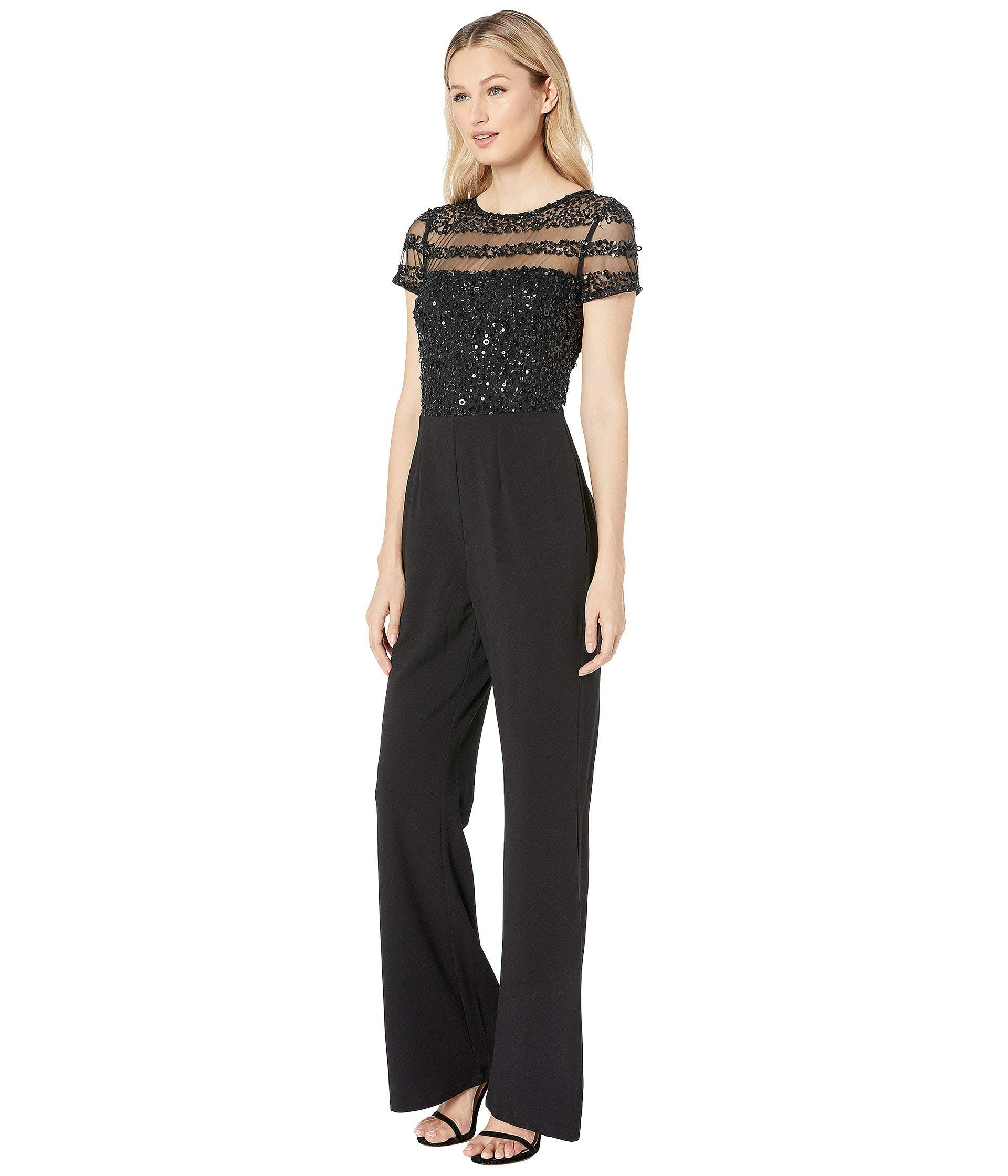 1c650d9bab9 Lyst - Adrianna Papell Crepe Jumpsuit (black) Women s Jumpsuit   Rompers One  Piece in Black