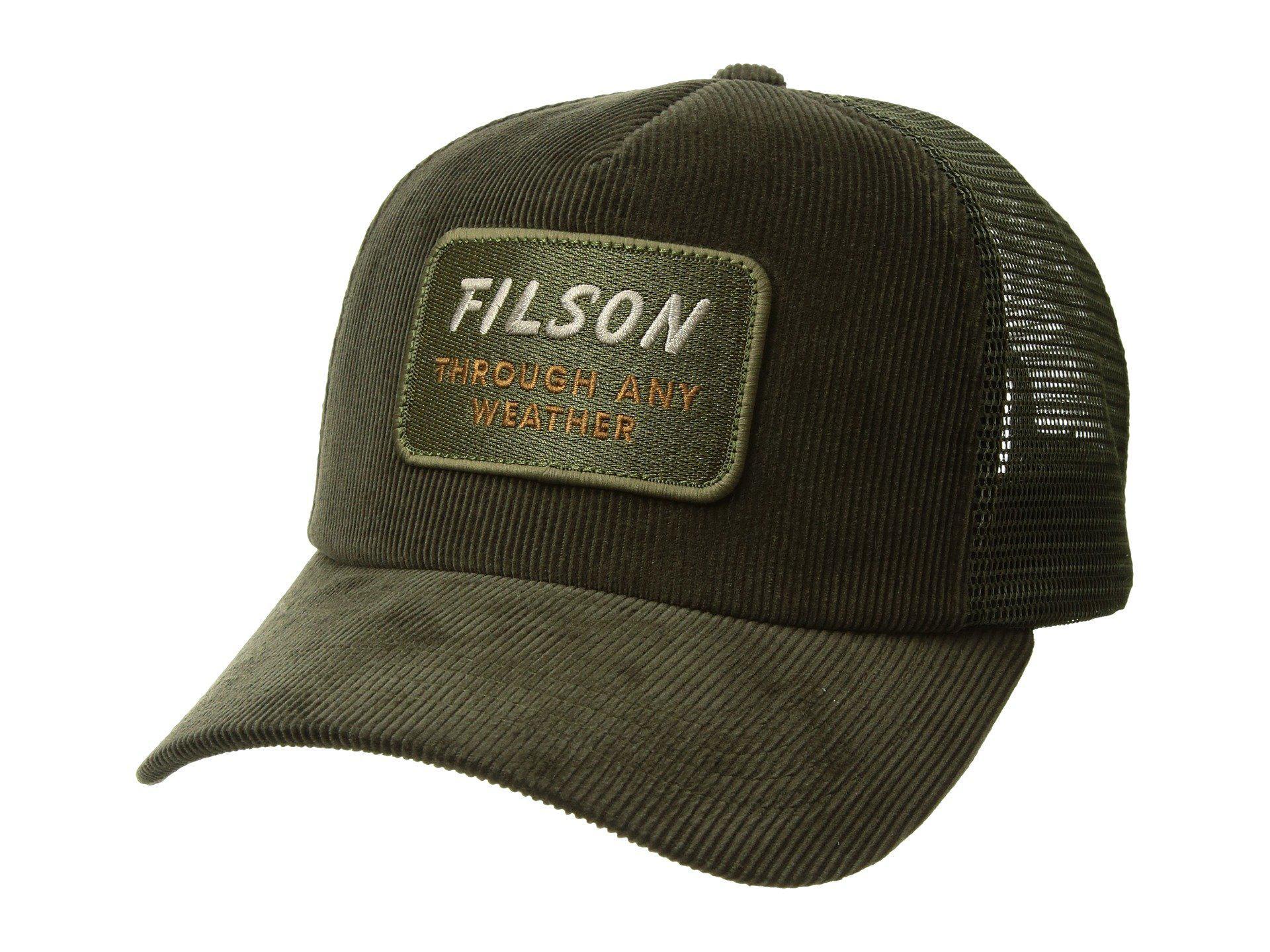 5b621649181 Lyst - Filson Alcan Cord Mesh Cap (buck) Caps in Green for Men