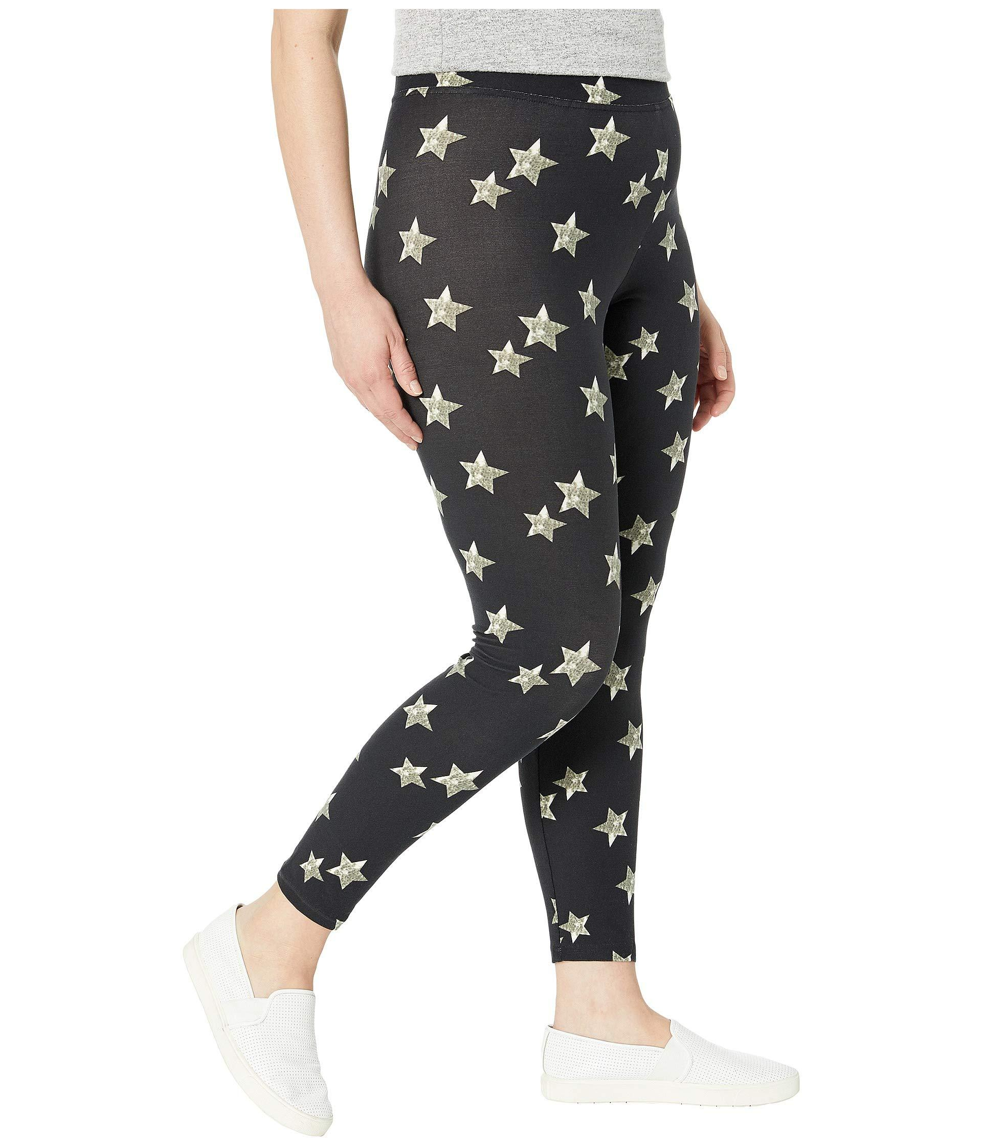 abc32ff0173e60 ... Printed Front Lightweight Knit Leggings (black Multi/distressed Star).  View fullscreen