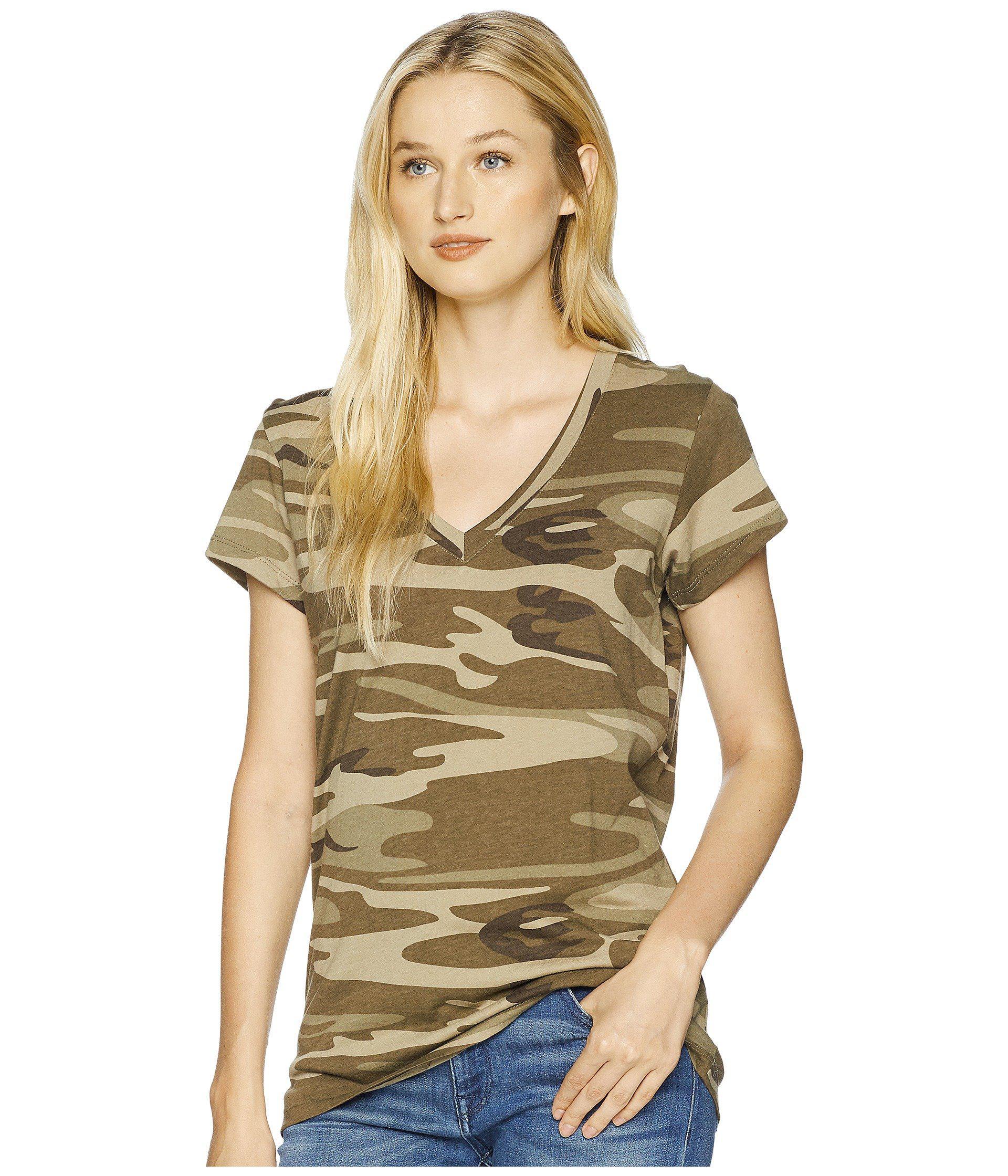 ba2a0a7134 Alternative Apparel. Natural Everyday V-neck (khaki Camo) Women s Clothing