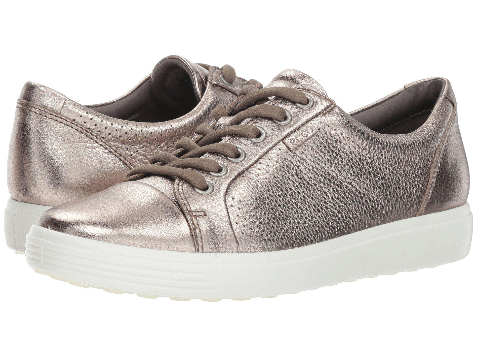 7b83870ae145 Lyst - Ecco Soft 7 Perf Tie (warm Grey Cow Leather) Women s Shoes in ...