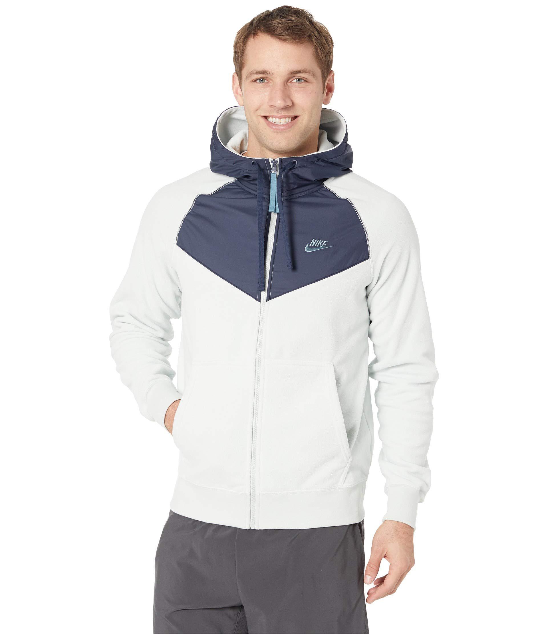 483a38808aa8 Lyst - Nike Nsw Hoodie Full Zip Core Winter Snl (black black white ...