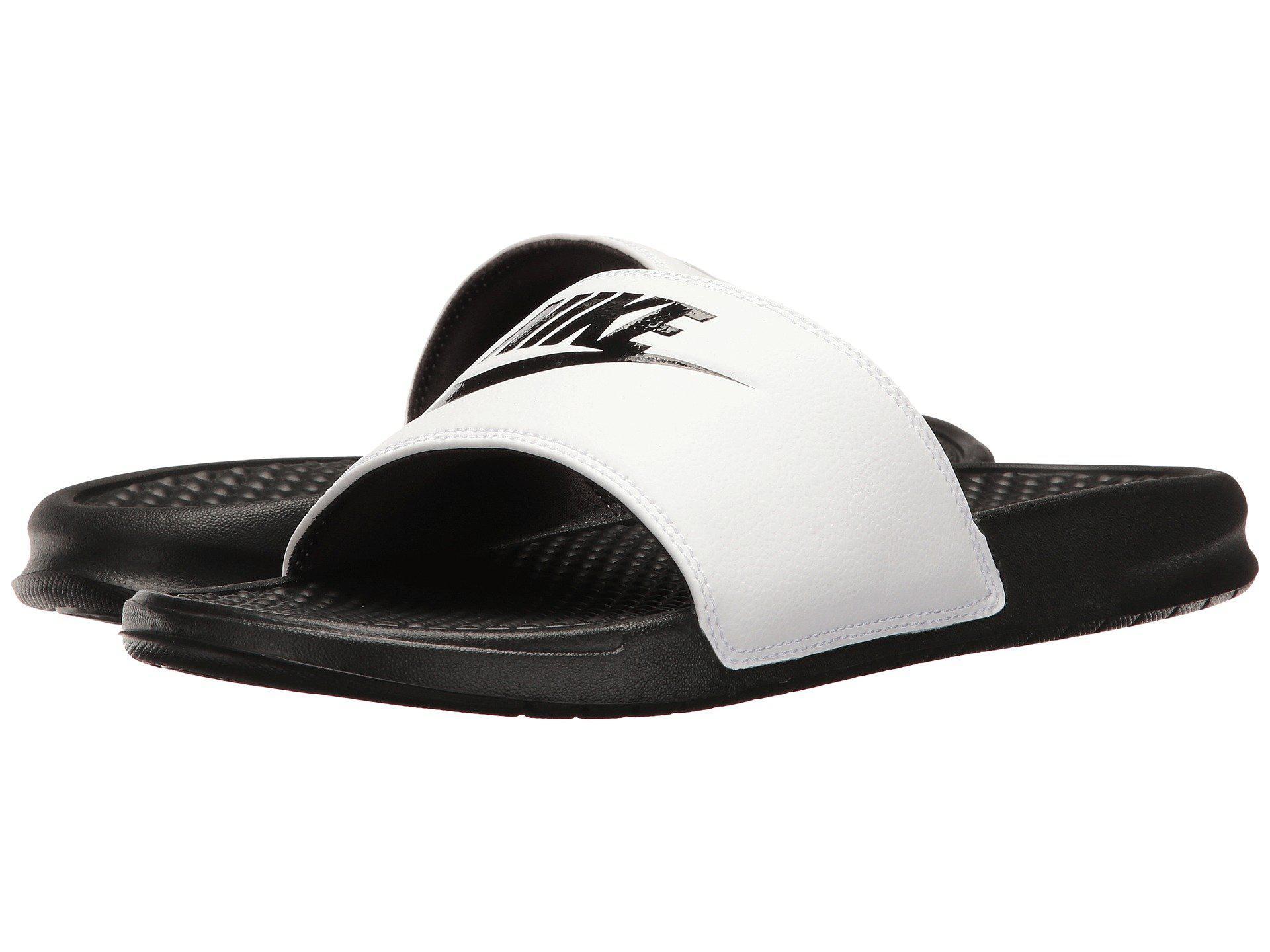 9aabf5c2a24432 Lyst - Nike Benassi Jdi Slide (black white) Men s Slide Shoes in ...