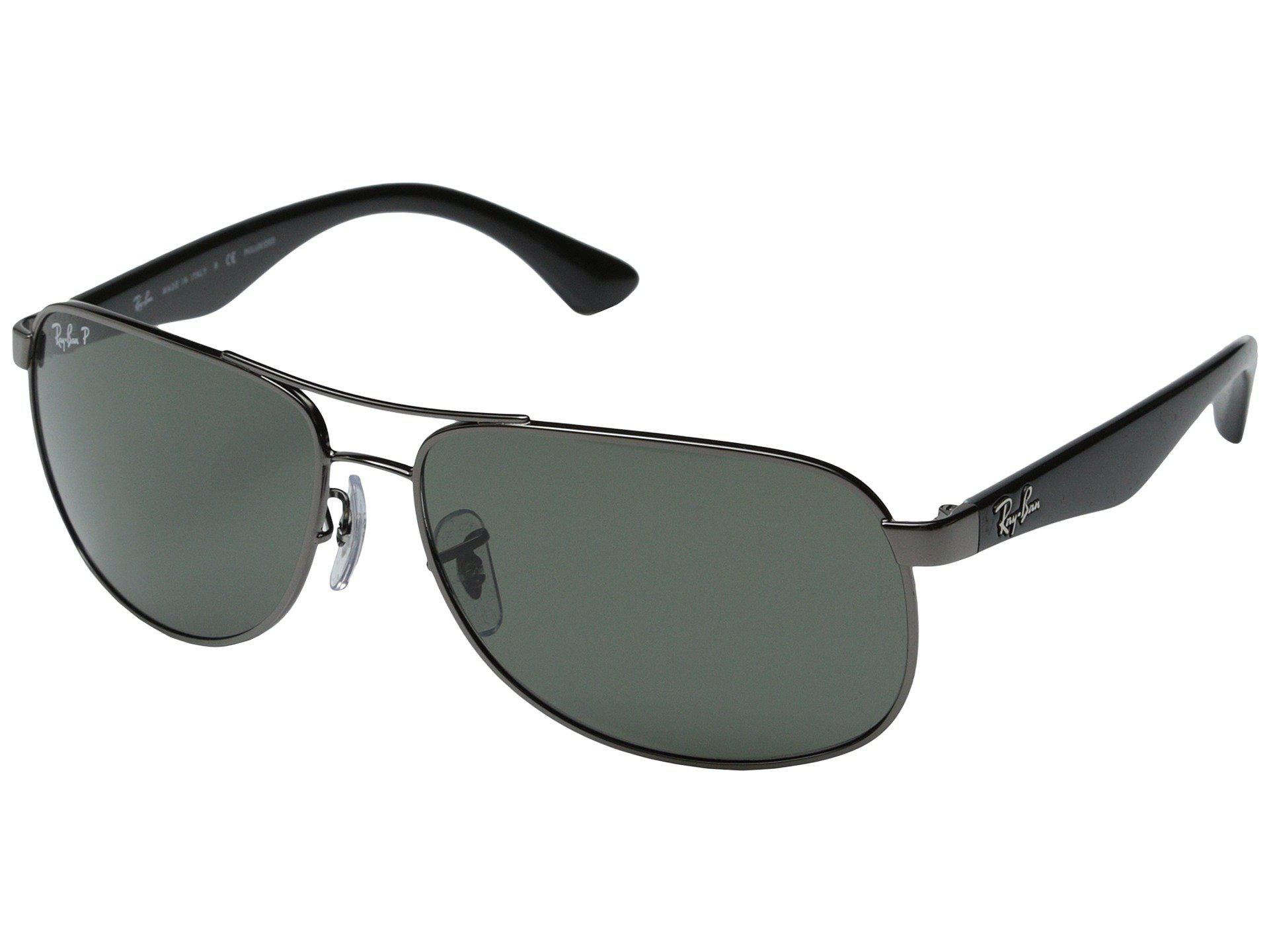 3546e3dd99 Ray-Ban. Black Rb3502 Polarized 61mm (gunmental polarized) Polarized  Fashion Sunglasses