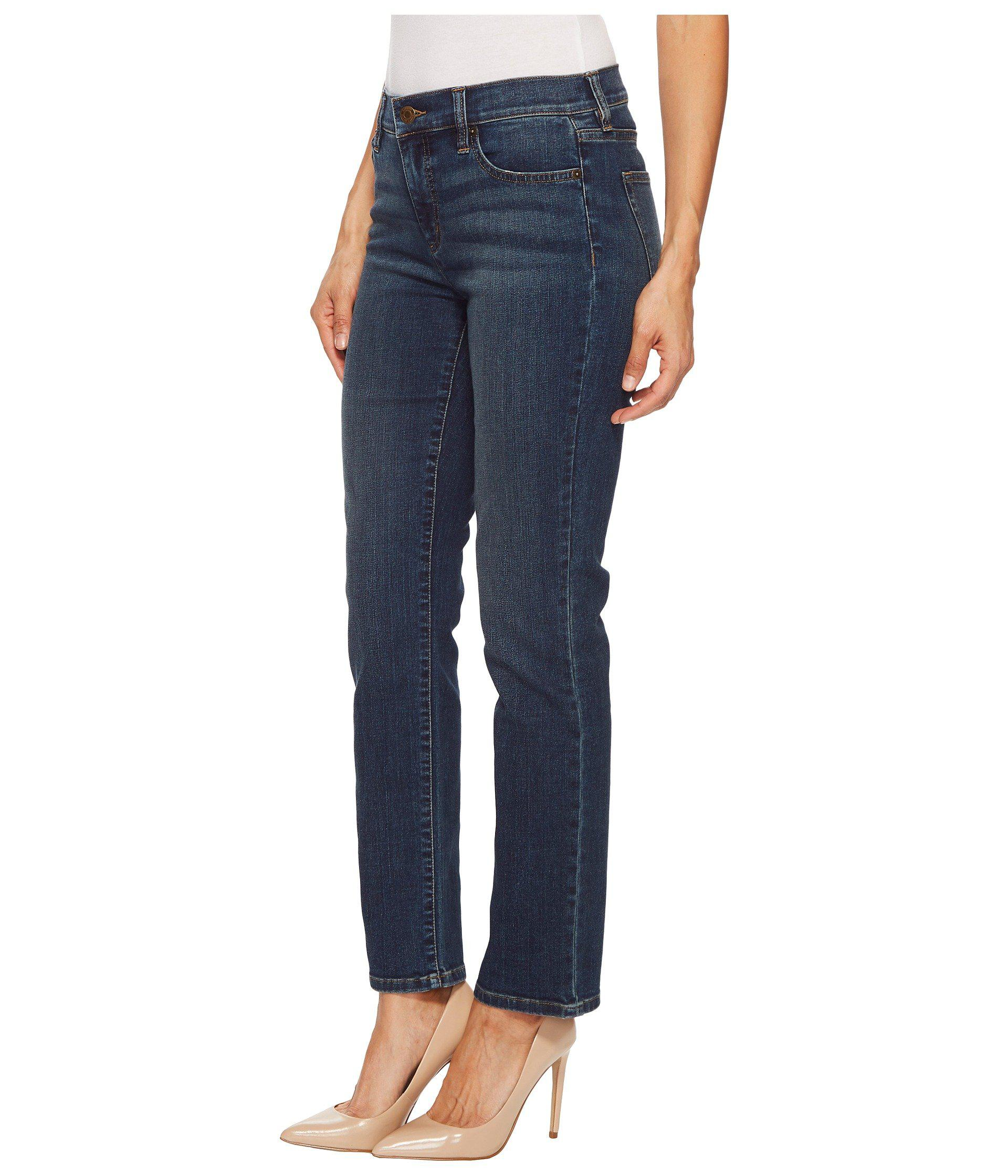 f00b260530557 Lyst - Lauren By Ralph Lauren Petite Slimming Classic Straight Jeans  (harbor Wash) Women s Jeans in Blue