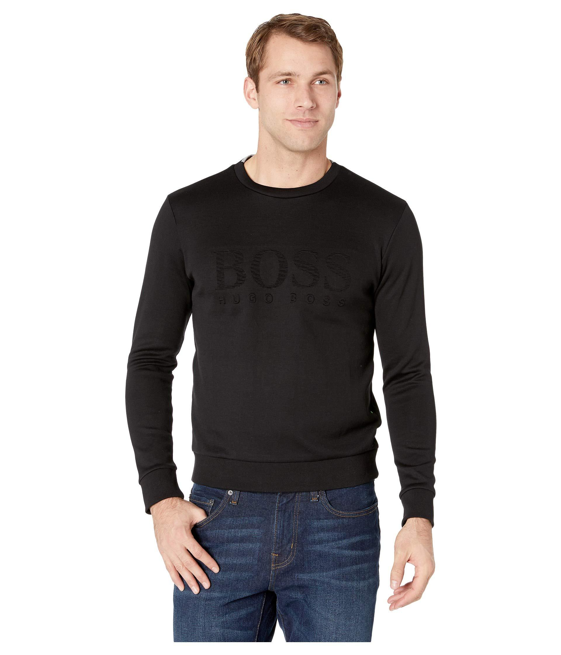 218c98a19 Lyst - BOSS Salbo 10134333 01 (black) Men's Long Sleeve Pullover in ...