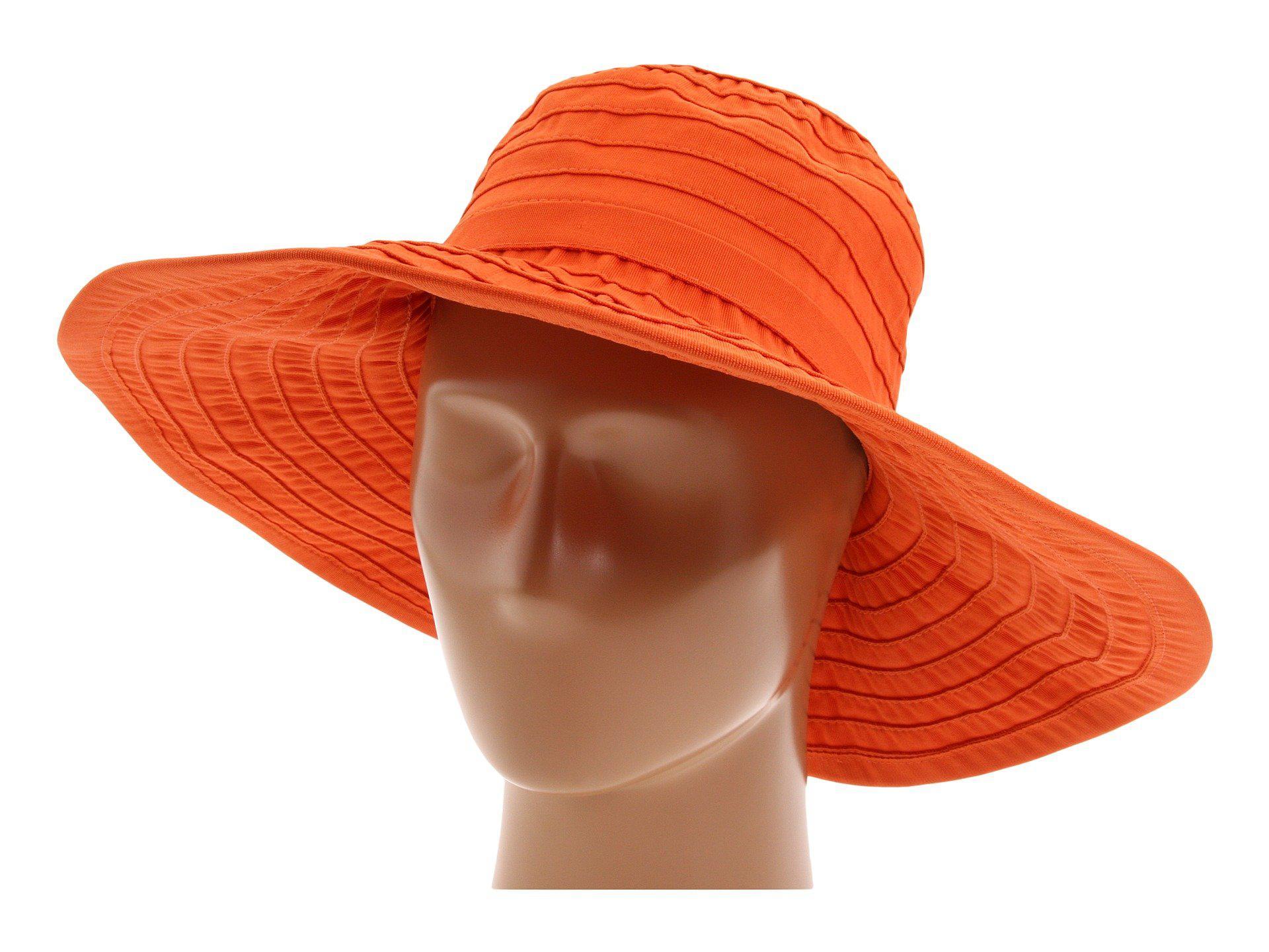 e4d4a8ba4b60e San Diego Hat Company. Women s Orange Rbl299 Crushable Ribbon Floppy ...