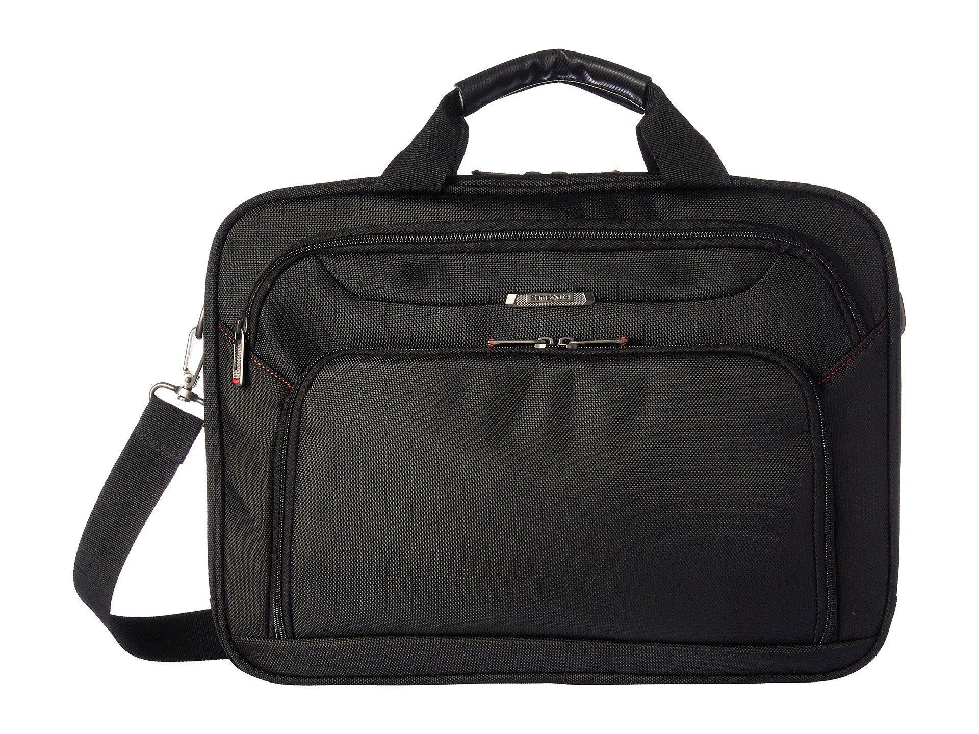 Samsonite Xenon 3 Two Gusset Brief - Checkpoint Friendly (Black) Briefcase Bags wsvt7j