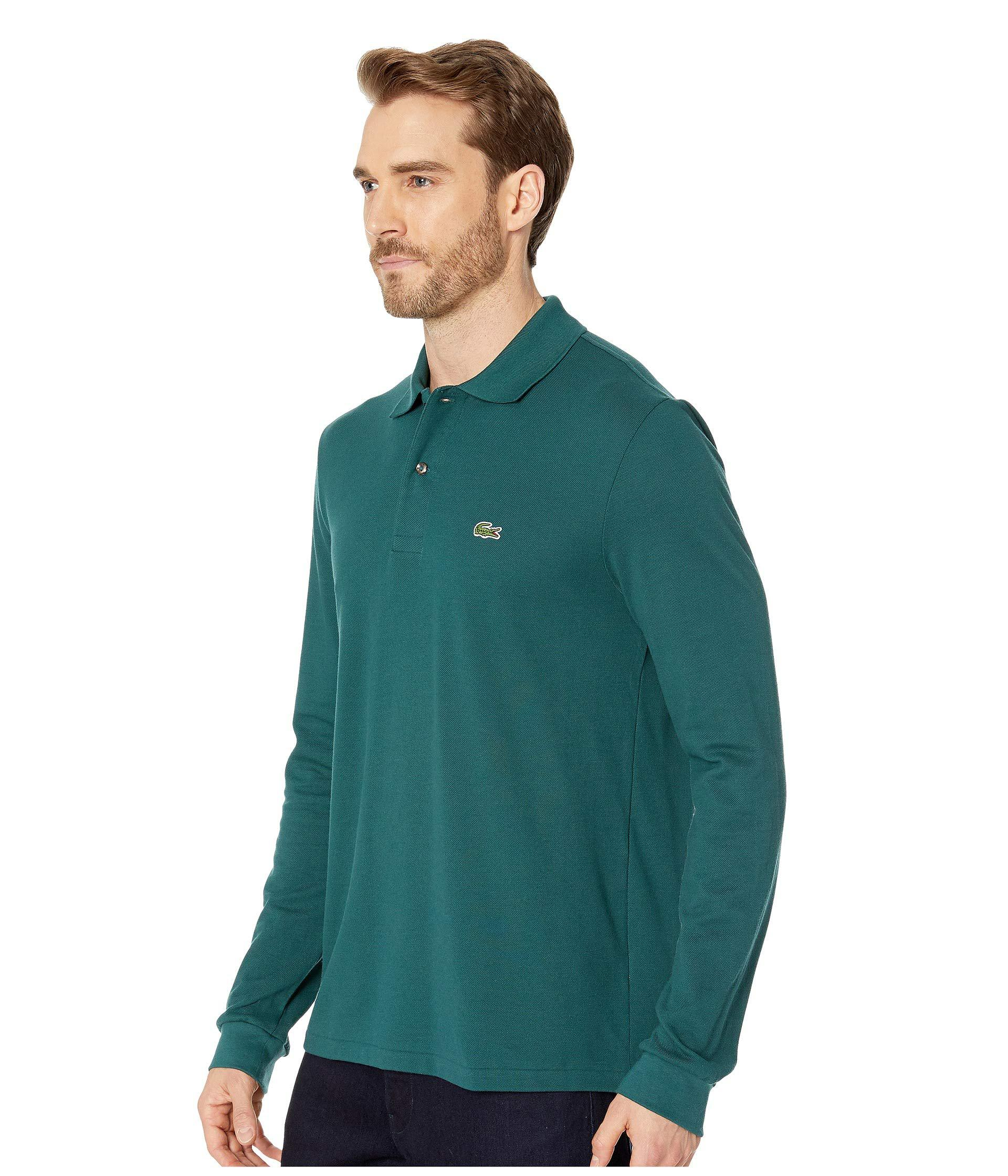 80ef1fb1 Lyst - Lacoste Long Sleeve Classic Pique Polo Shirt (navy Blue) Men's Long  Sleeve Pullover in Green for Men