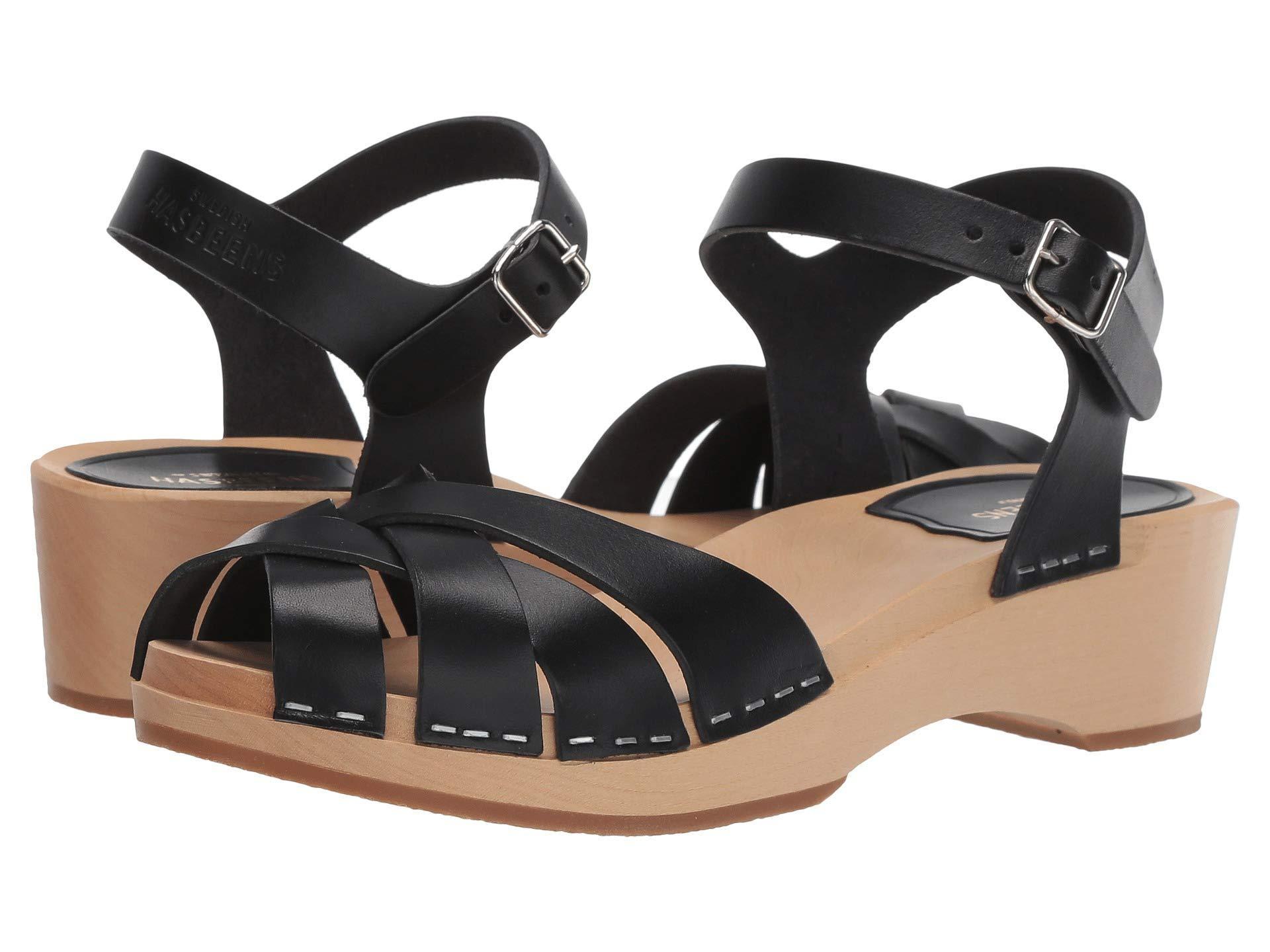 30cb86716a Swedish Hasbeens - Black Magdalena (nature) Women's Sandals - Lyst. View  fullscreen